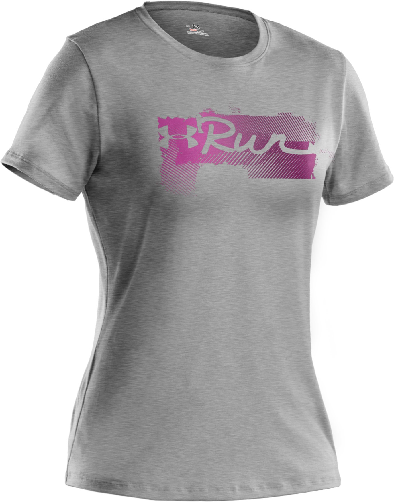 Women's UA Run Gradiated Graphic T-Shirt, True Gray Heather