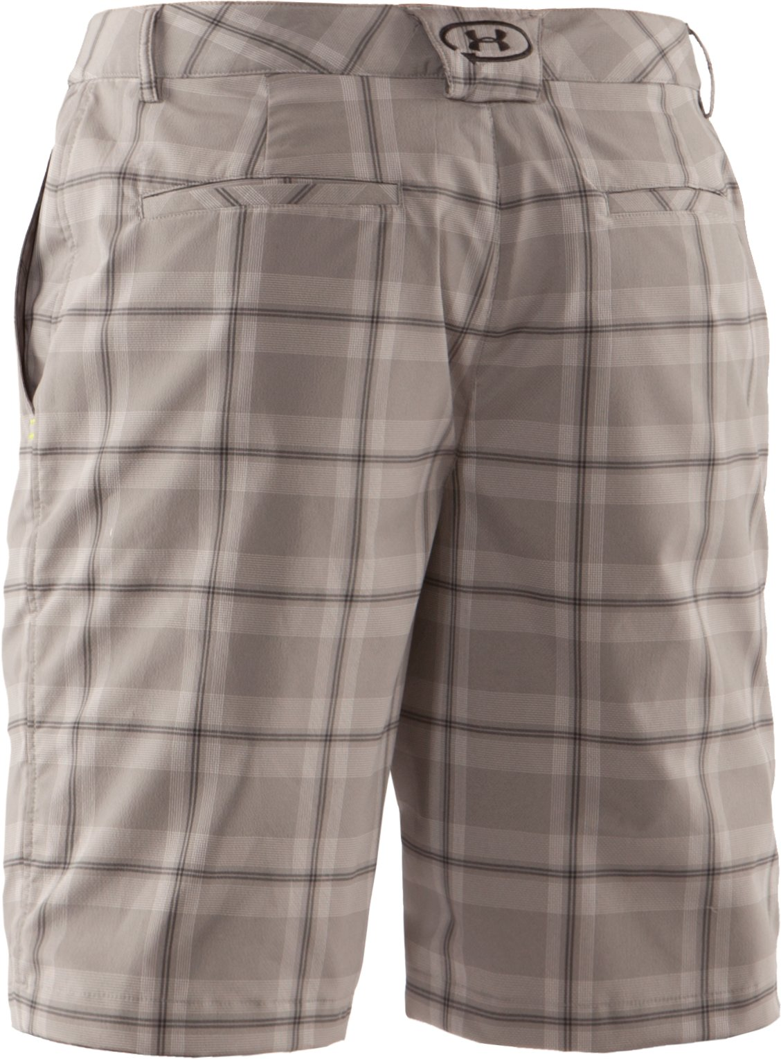 Men's UA Catalyst Plaid Shorts, Concrete