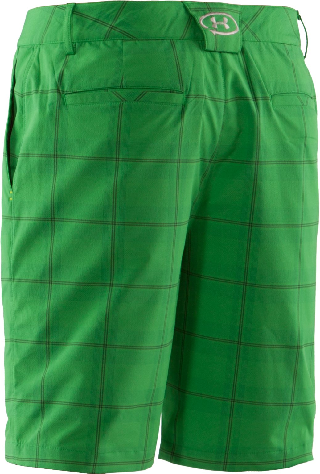 Men's UA Catalyst Plaid Shorts, Tree Frog