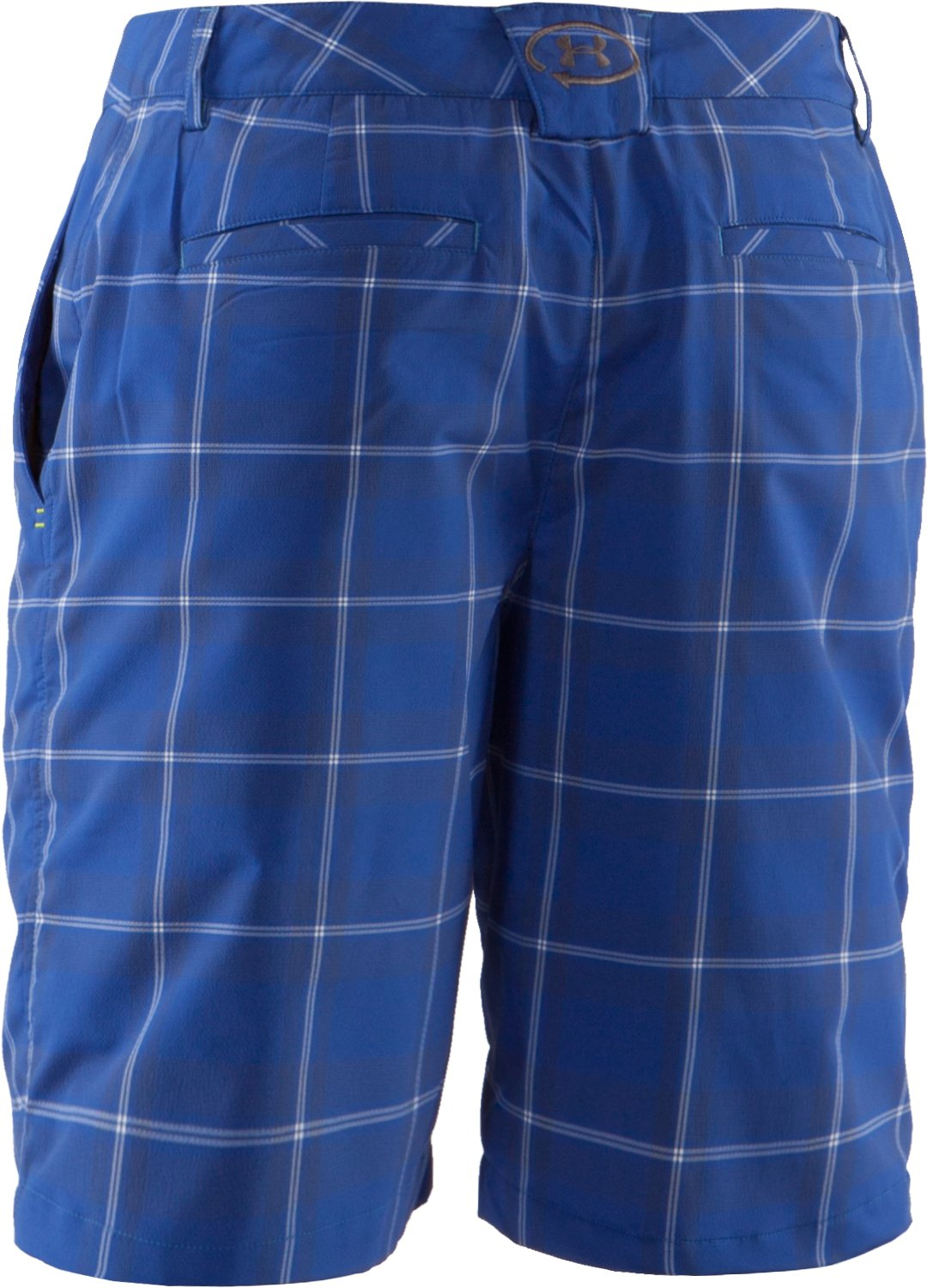 Men's UA Catalyst Plaid Shorts, Moon Shadow