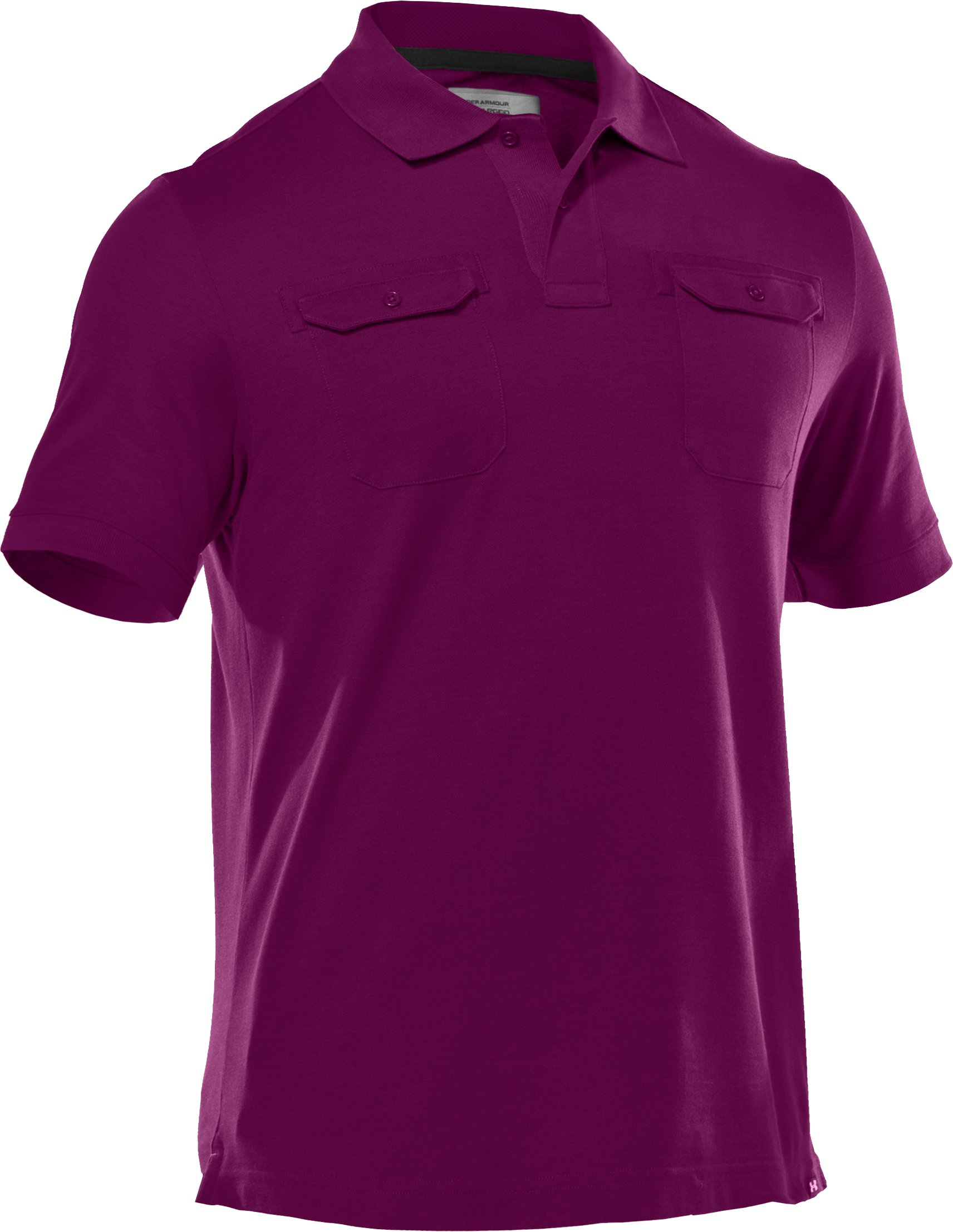 Men's Charged Cotton® Pique Pocket Polo, Beet,