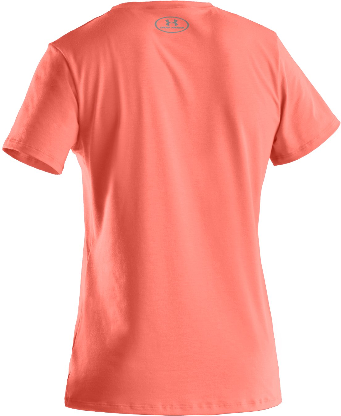 Girls' UA Big Logo Short Sleeve T-Shirt, ELECTRIC TANGERINE