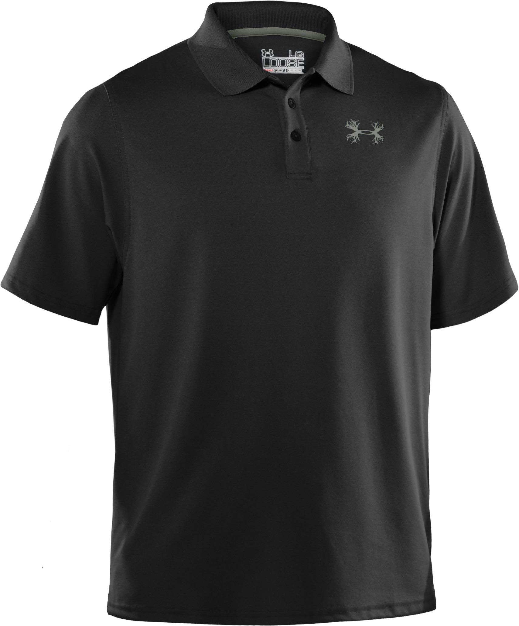 Men's UA Performance Antler Logo Polo, Black