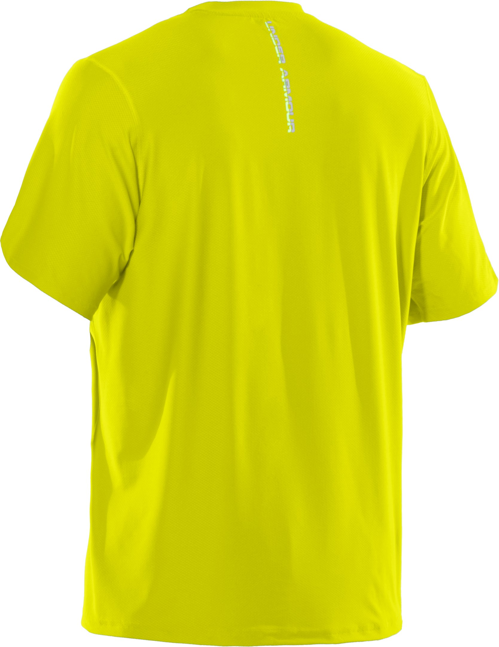 Men's UA Run HeatGear® Short Sleeve T-Shirt, High-Vis Yellow, undefined
