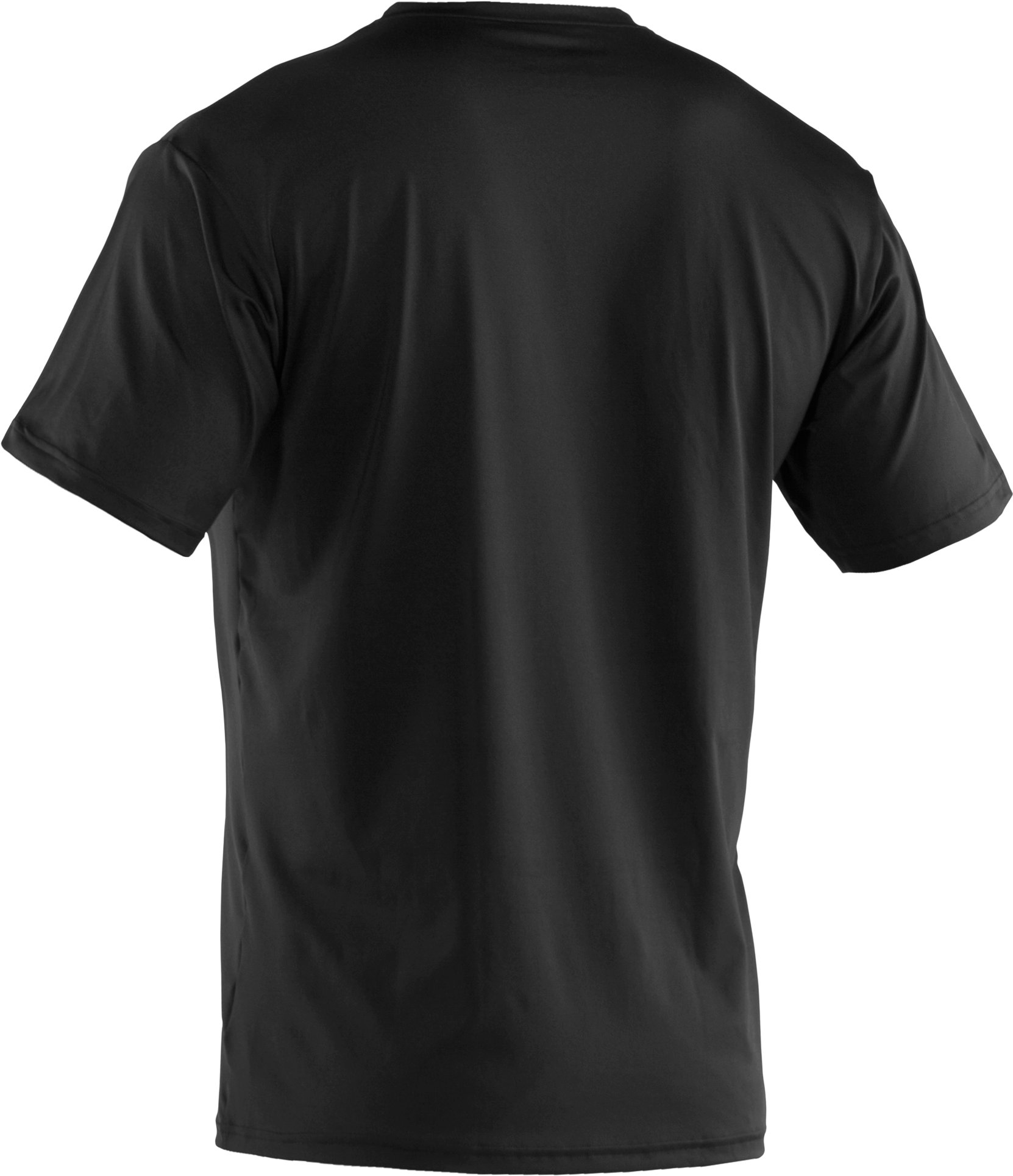 Men's The Original UA Fitted V-Neck Undershirt, Black ,