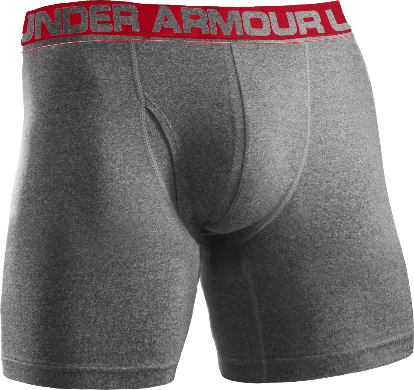 "Men's UA Touch 6"" Boxerjock® Boxer Briefs, True Gray Heather"