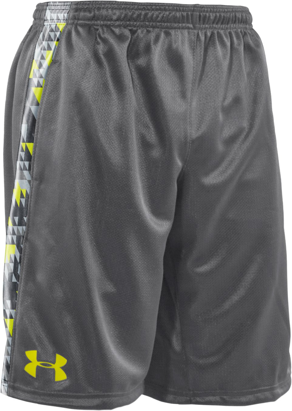 "Boys' UA Ultimate Printed 9"" Shorts, Graphite, zoomed image"