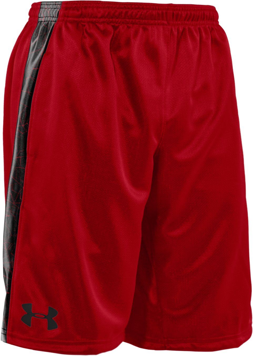 "Boys' UA Ultimate Printed 9"" Shorts, Red,"