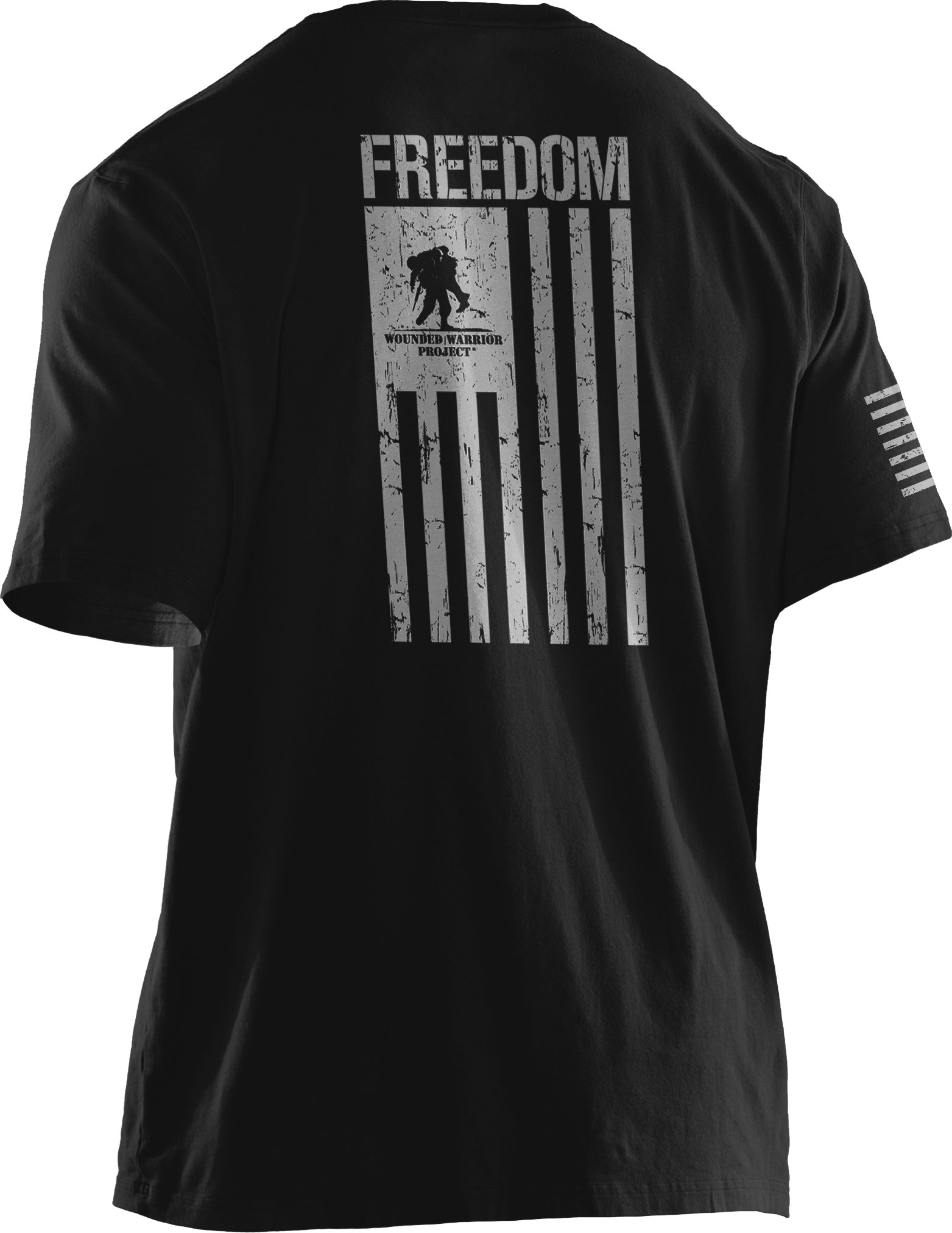 Men's UA WWP Freedom Flag T-Shirt, Black