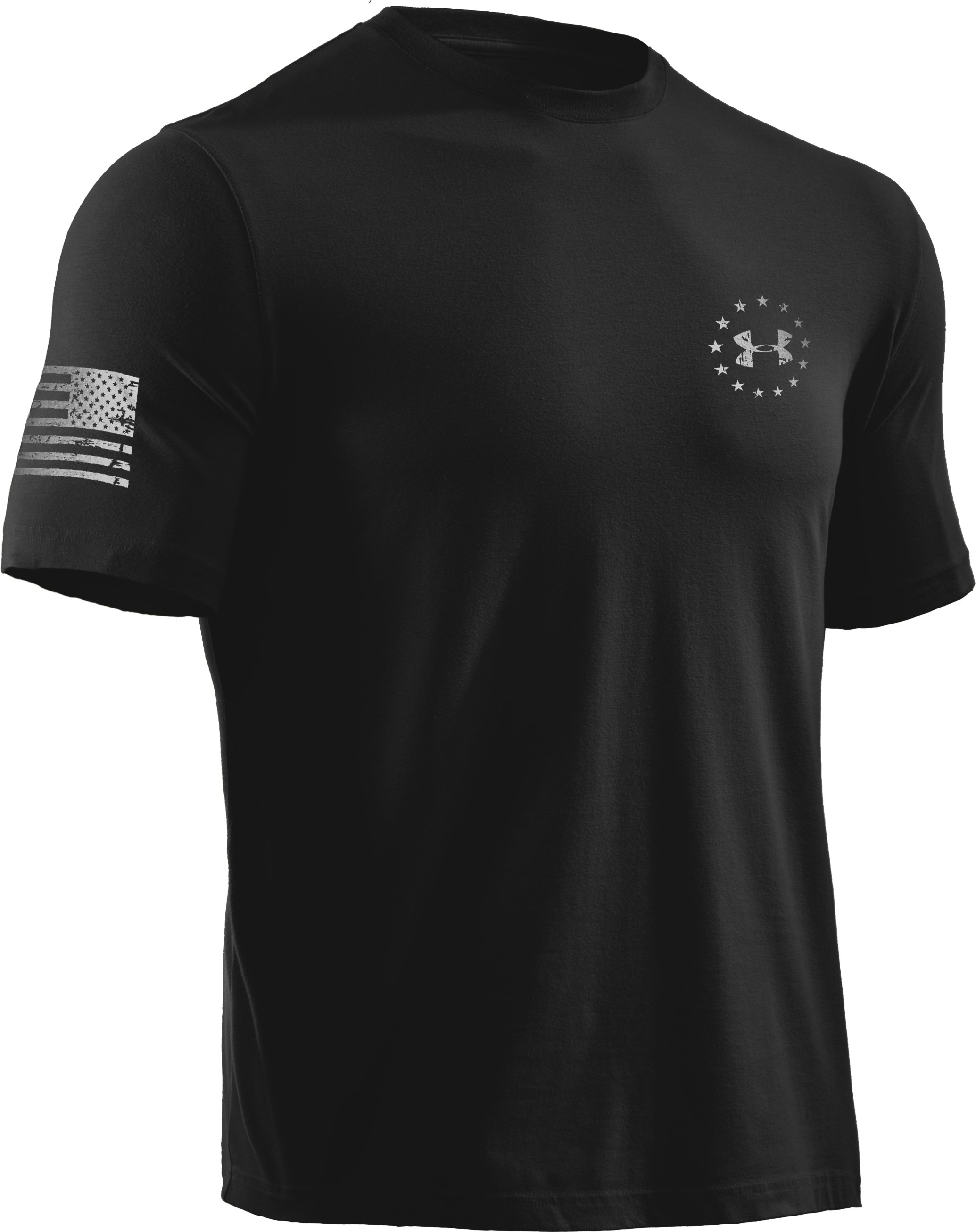 Men's UA WWP Freedom Flag T-Shirt, Black , undefined