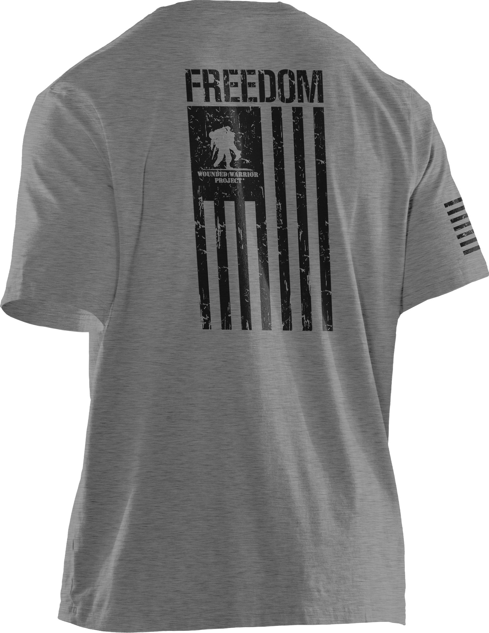 Men's UA WWP Freedom Flag T-Shirt, True Gray Heather, undefined