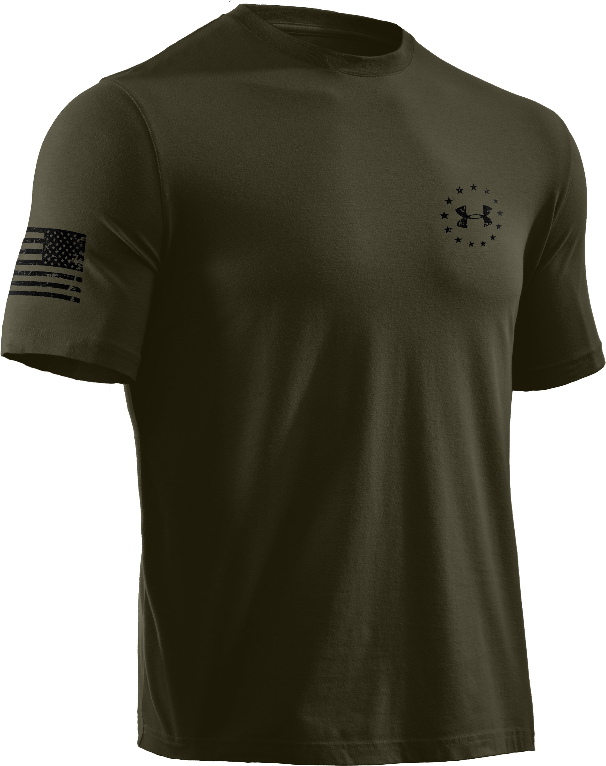 Men's UA WWP Freedom Flag T-Shirt, Marine OD Green