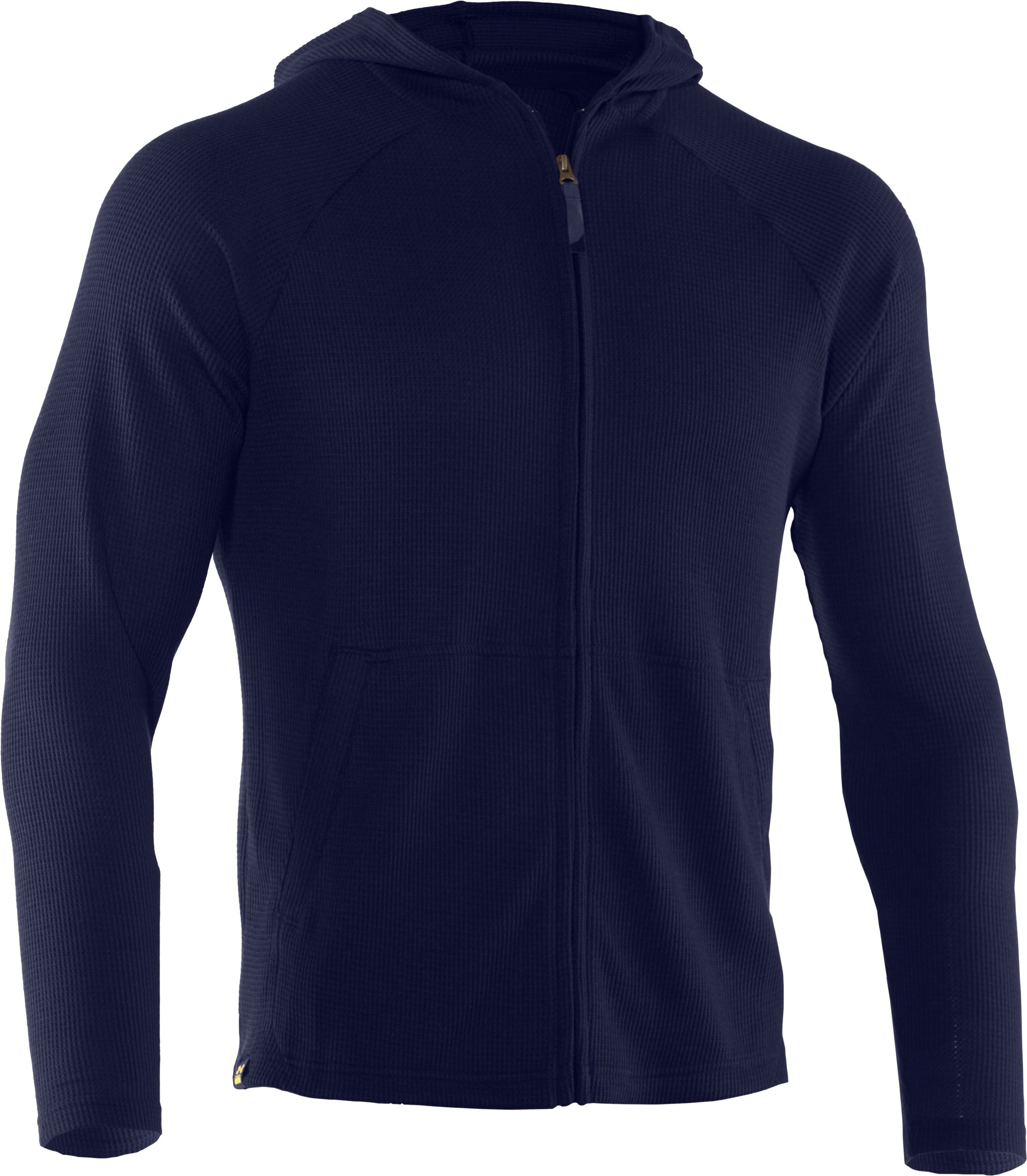 Men's UA Waffle 2.0 Full Zip Hoodie, Shadow