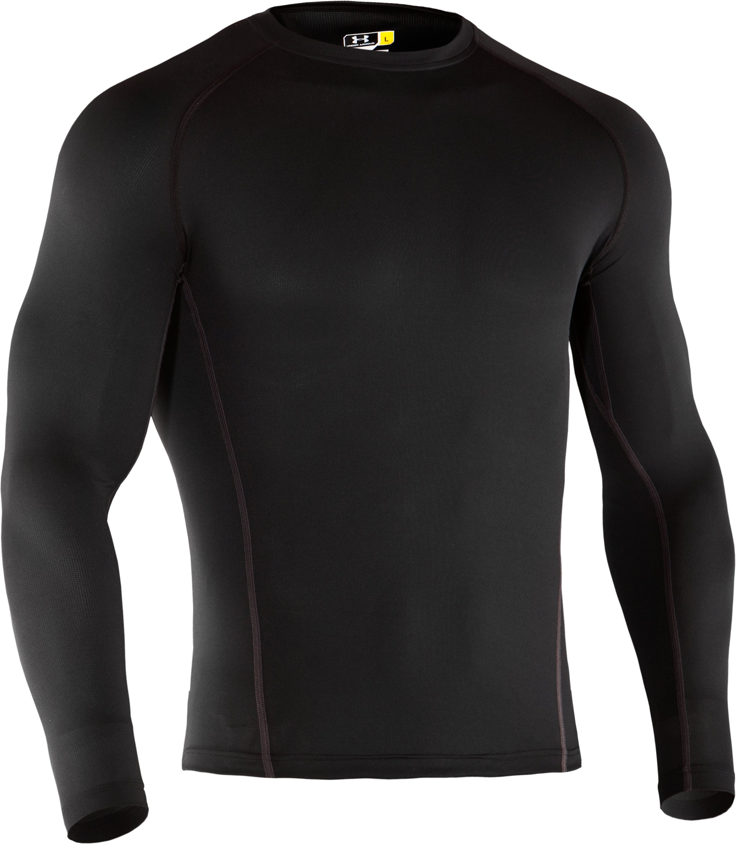 Men's UA Base™ 1.0 Long Sleeve Crew, Black