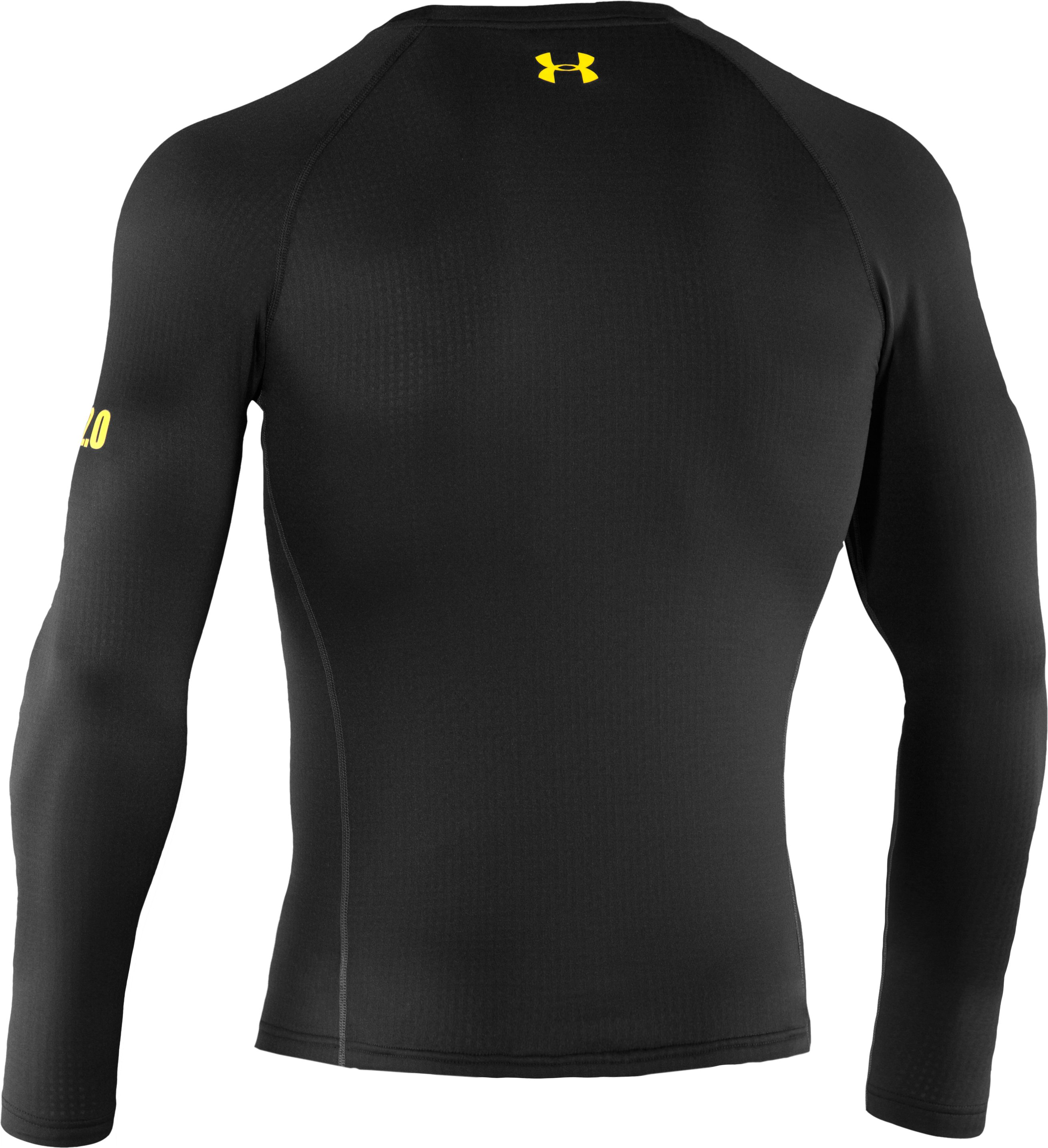 Men's UA Base™ 2.0 Baselayer Crew, Black , undefined