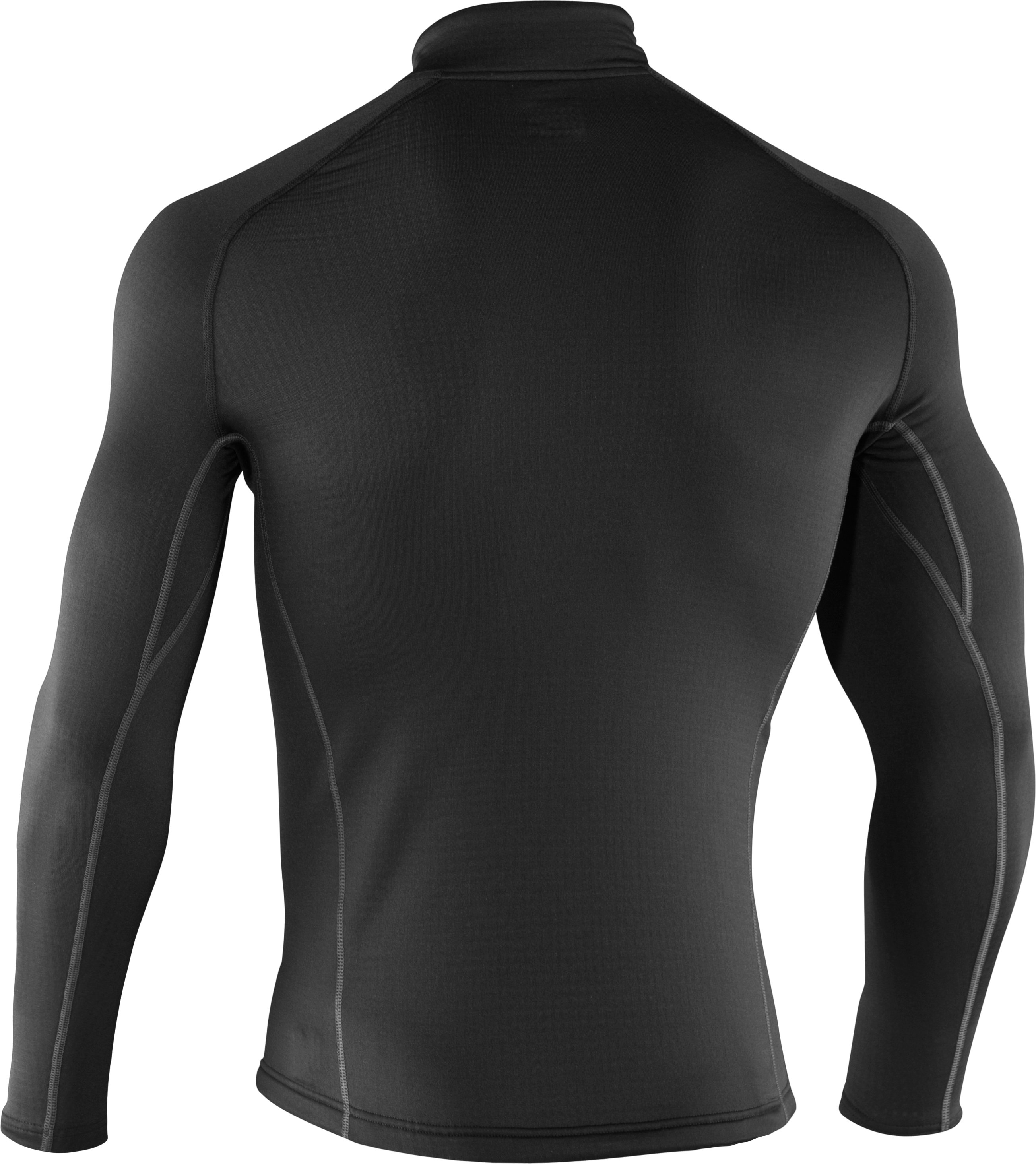Men's UA Base™ 3.0 ¼ Zip Baselayer, Black