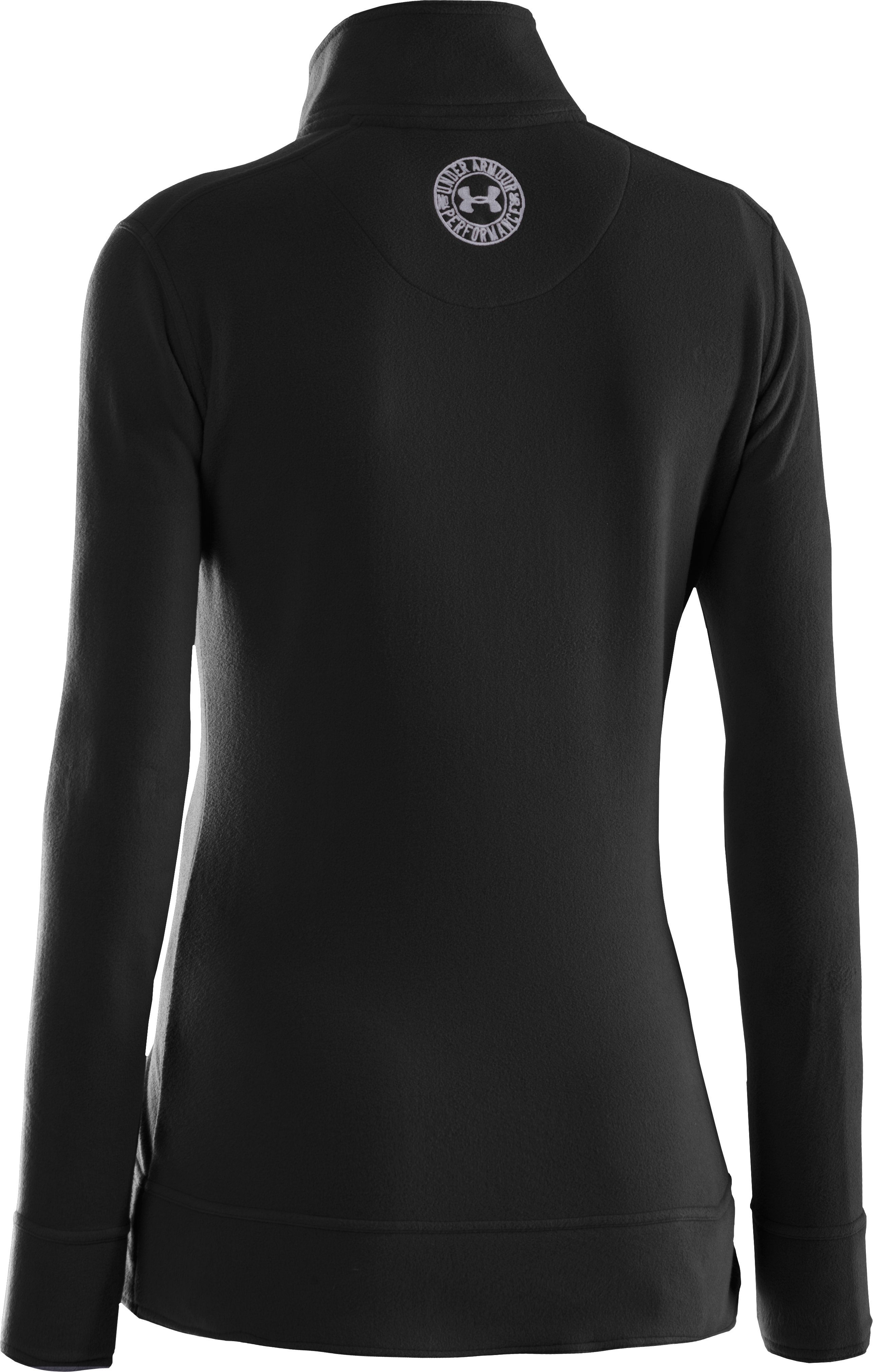 Women's UA Hundo® ¼ Zip Fleece, Black
