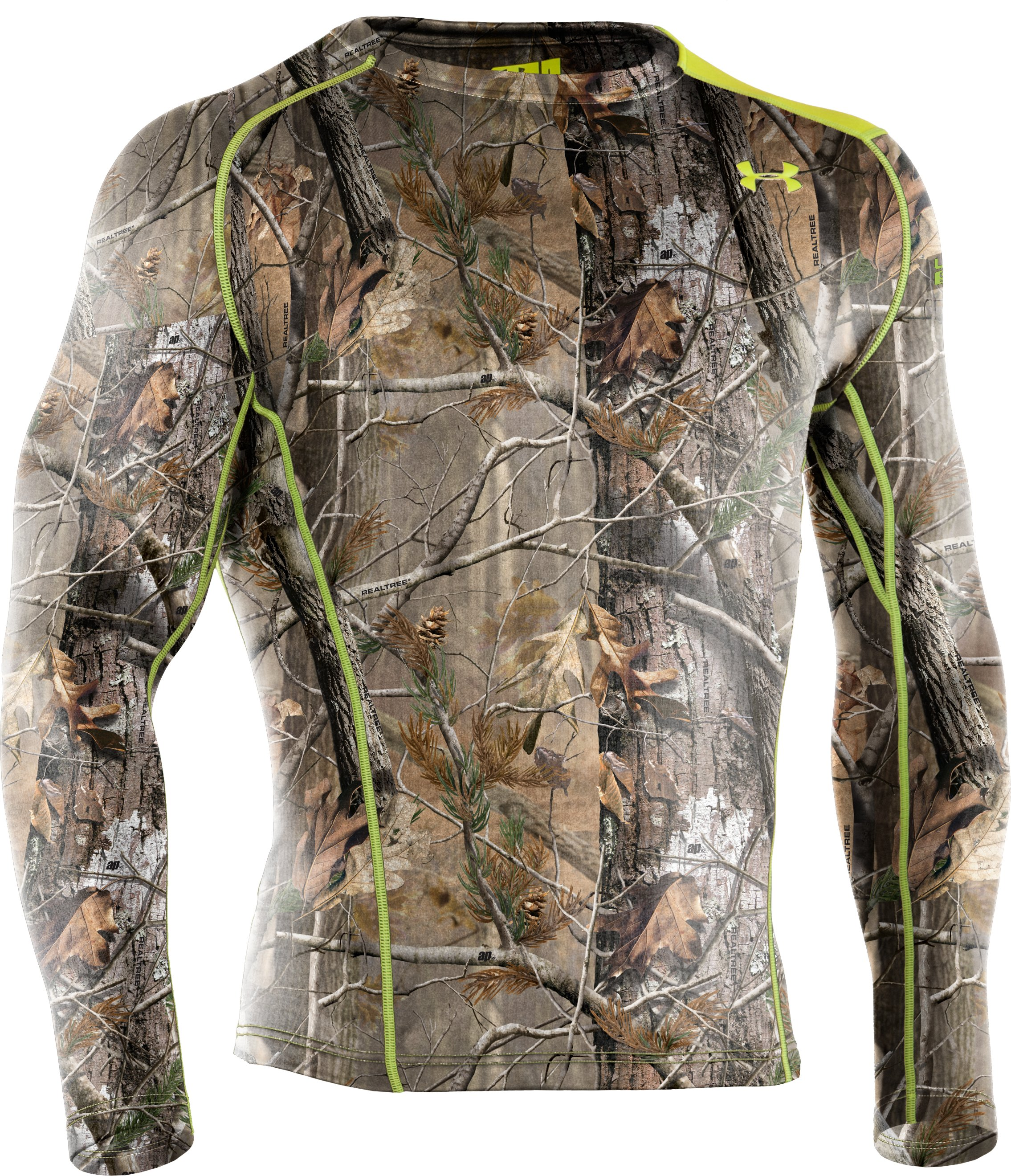 Men's UA Base™ 2.0 Scent Control Crew, Realtree AP, undefined