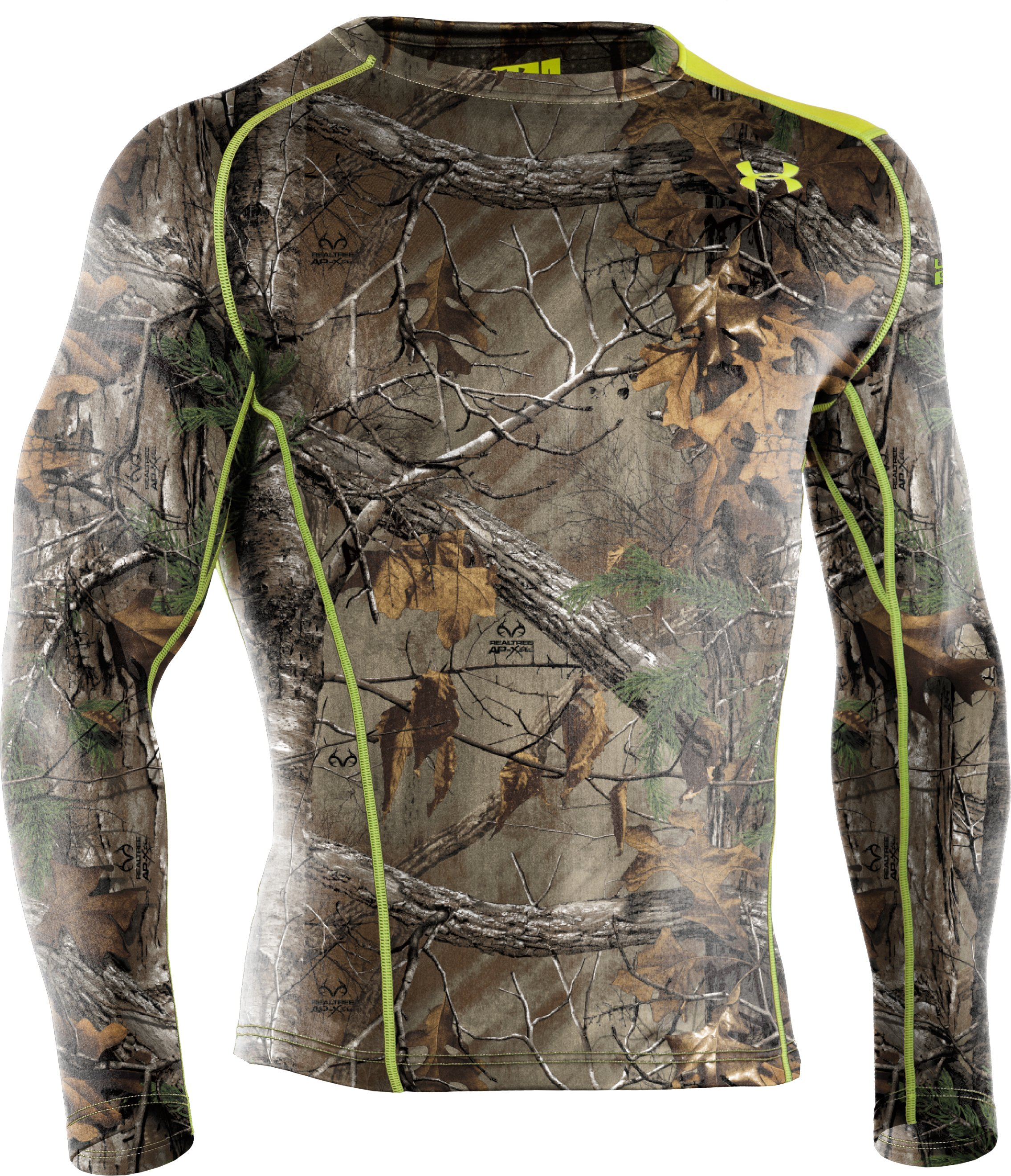 Men's UA Base™ 2.0 Scent Control Crew, REALTREE AP-XTRA, undefined