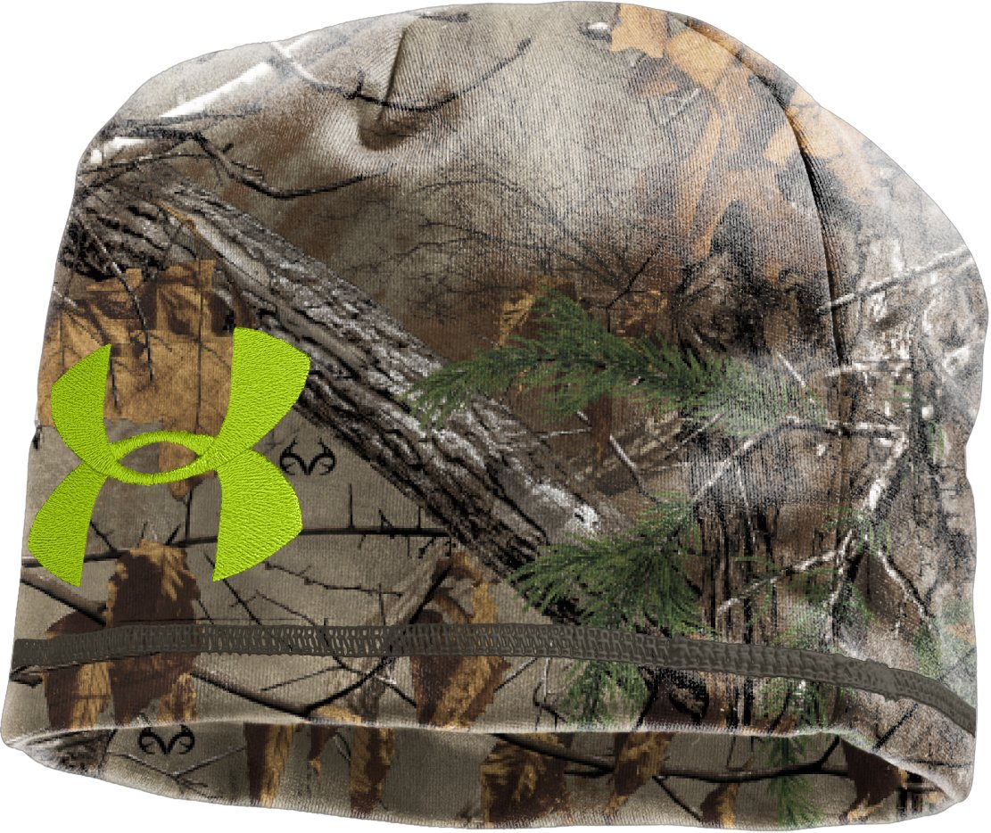 Men's UA Deadcalm Beanie, REALTREE AP-XTRA