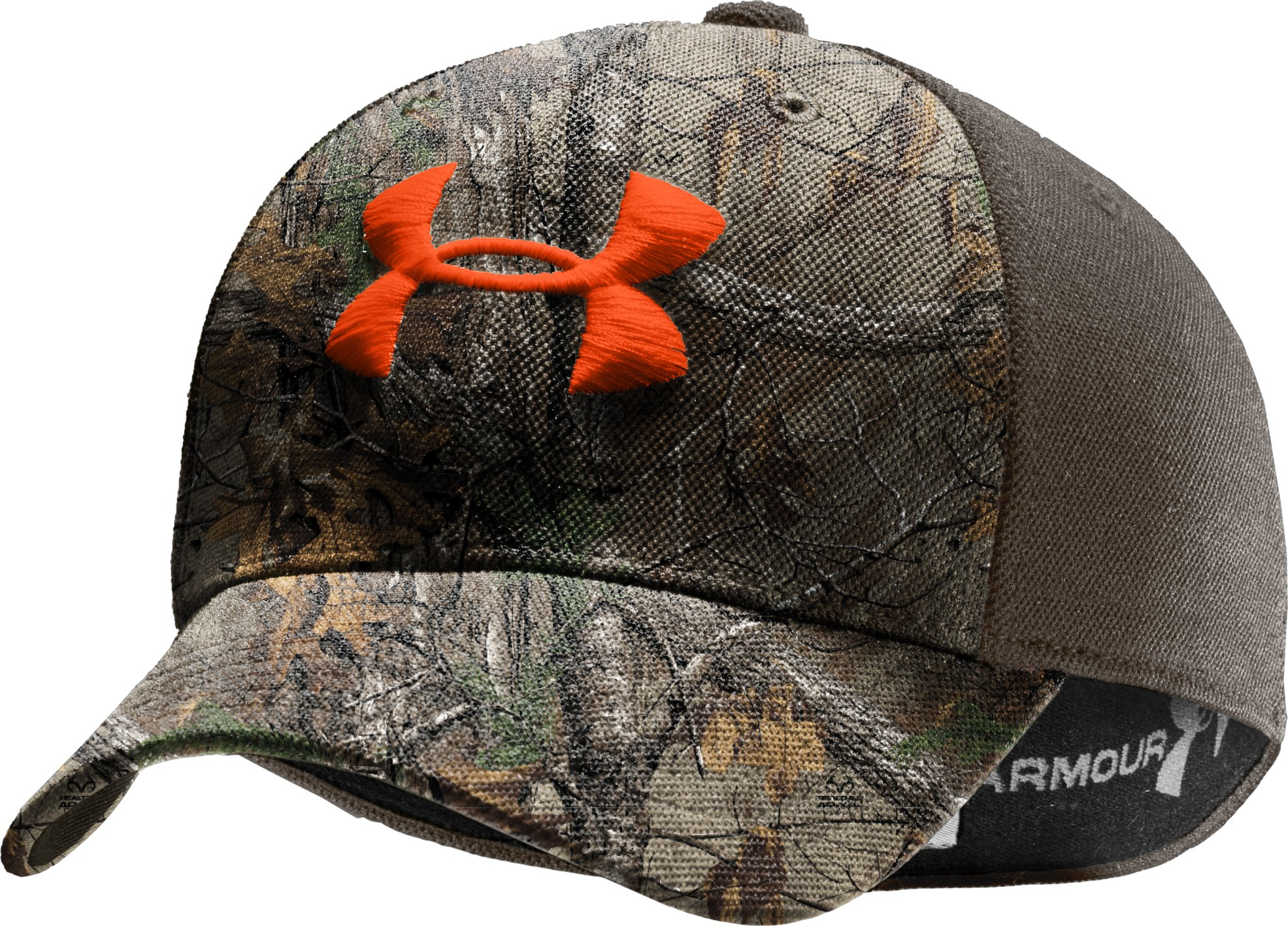 Men's UA Camo 2-Tone Stretch Fit Cap, REALTREE AP-XTRA