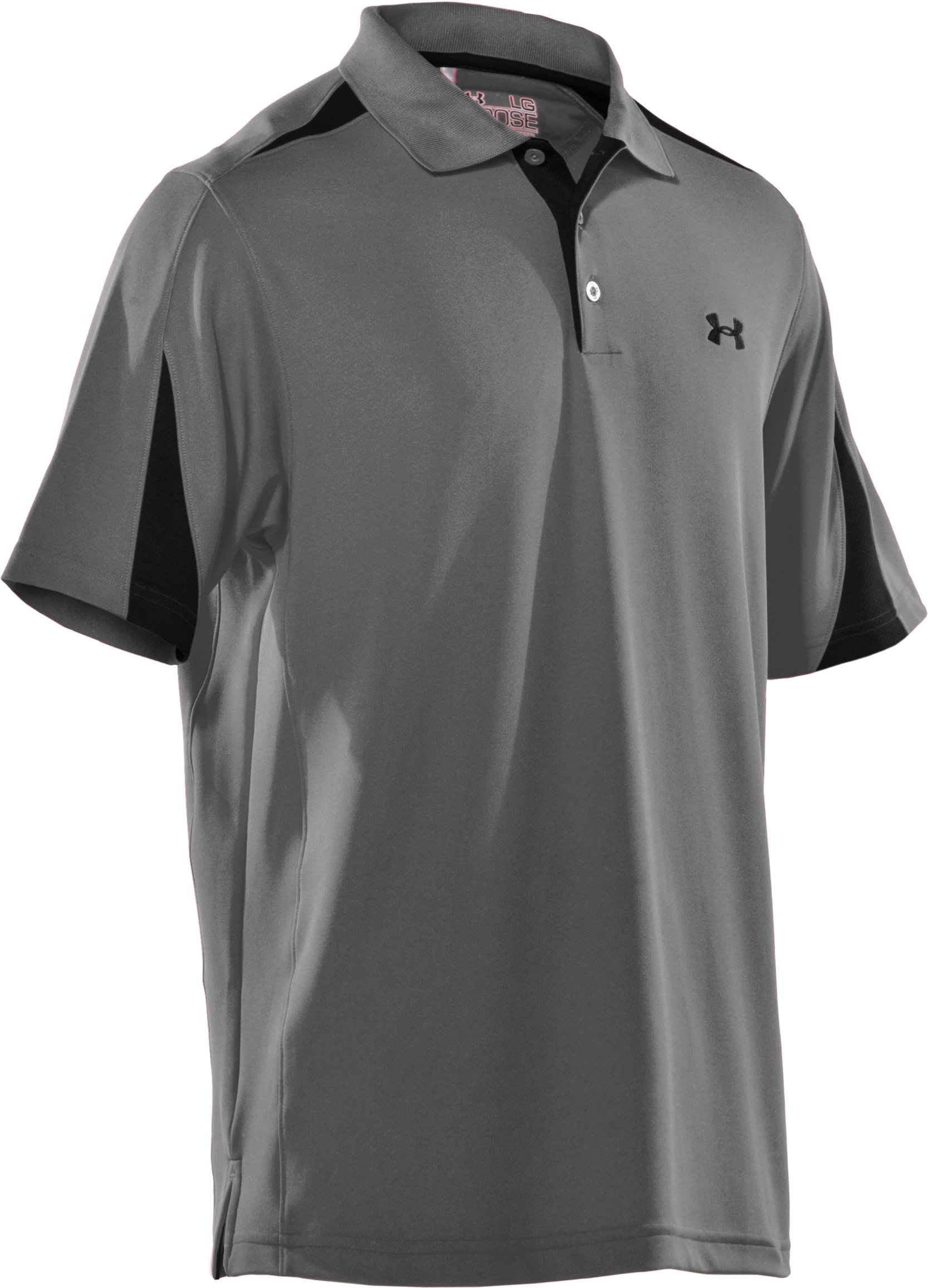 Men's UA Performance Colorblock Polo, Concrete