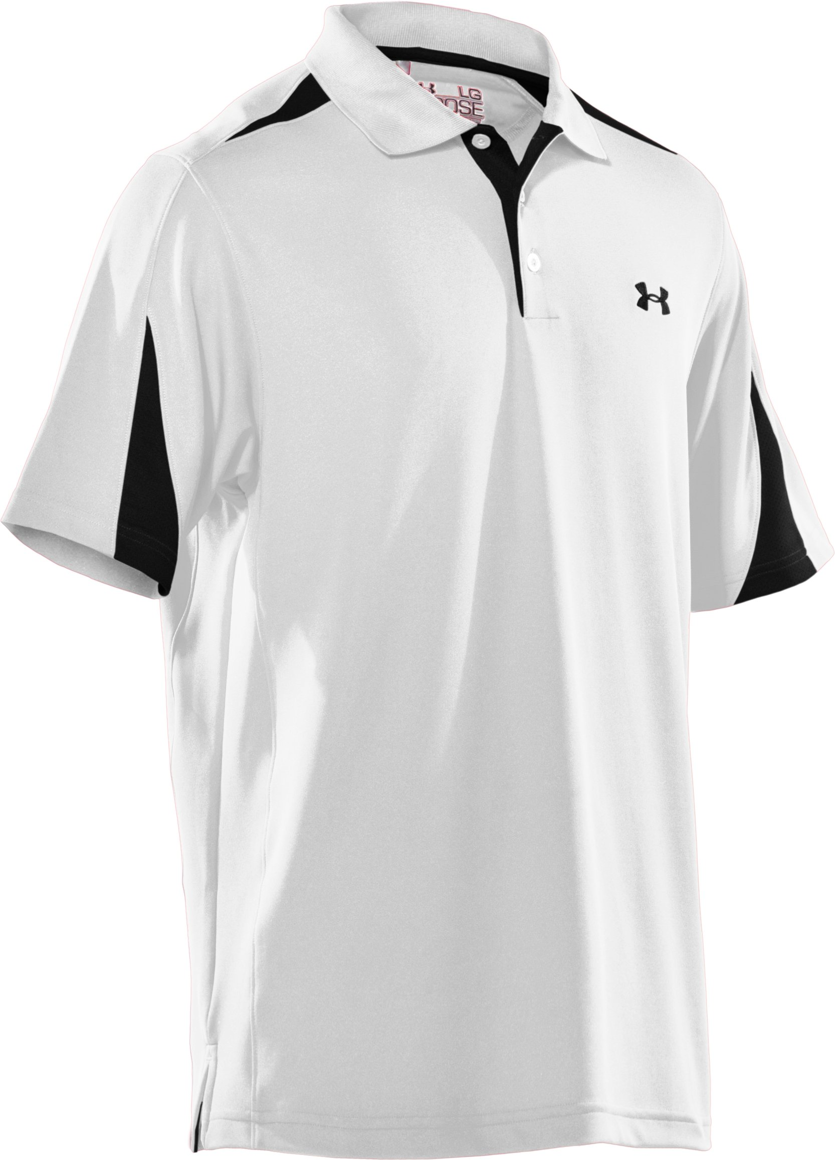 Men's UA Performance Colorblock Polo, White
