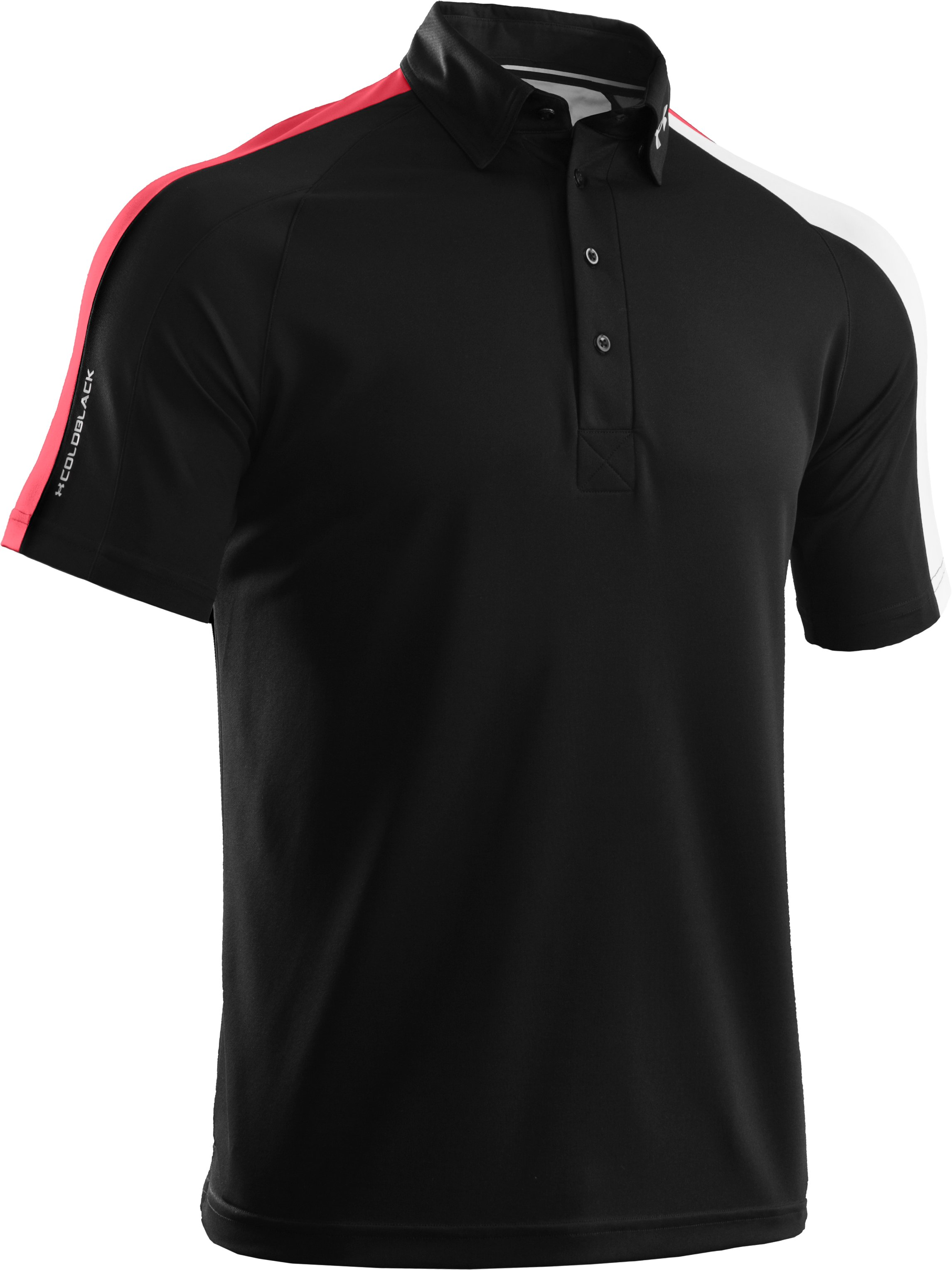 Men's coldblack® Colorblock Polo, Black