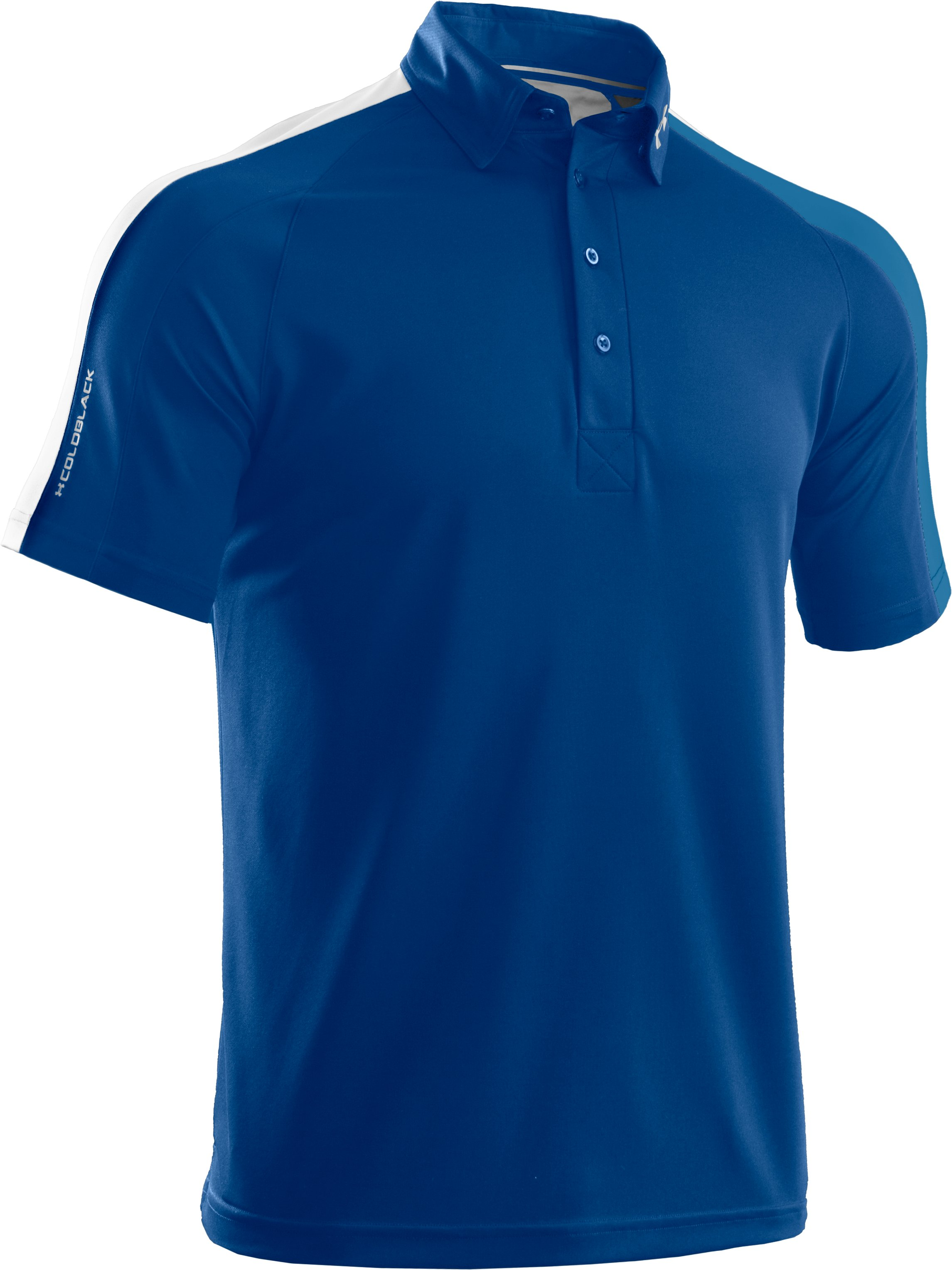 Men's coldblack® Colorblock Polo, EMPIRE BLUE, undefined