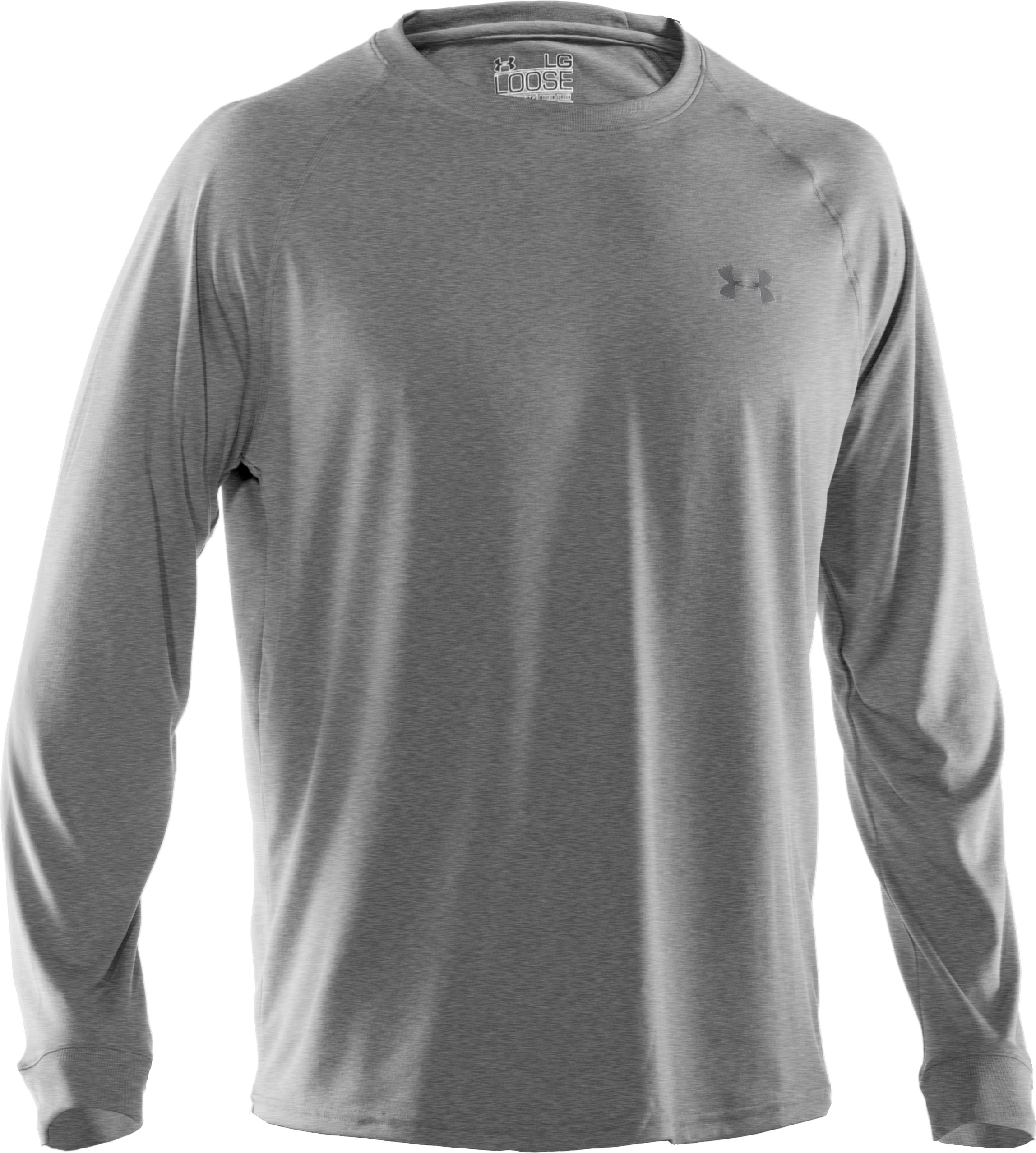 Men's UA Tech™ Long Sleeve T-Shirt, True Gray Heather