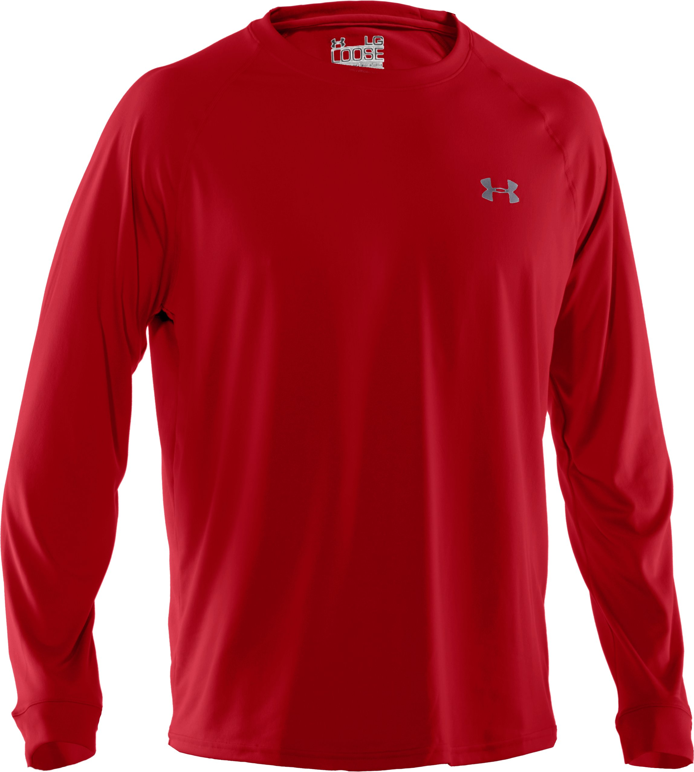 Men's UA Tech™ Long Sleeve T-Shirt, Red