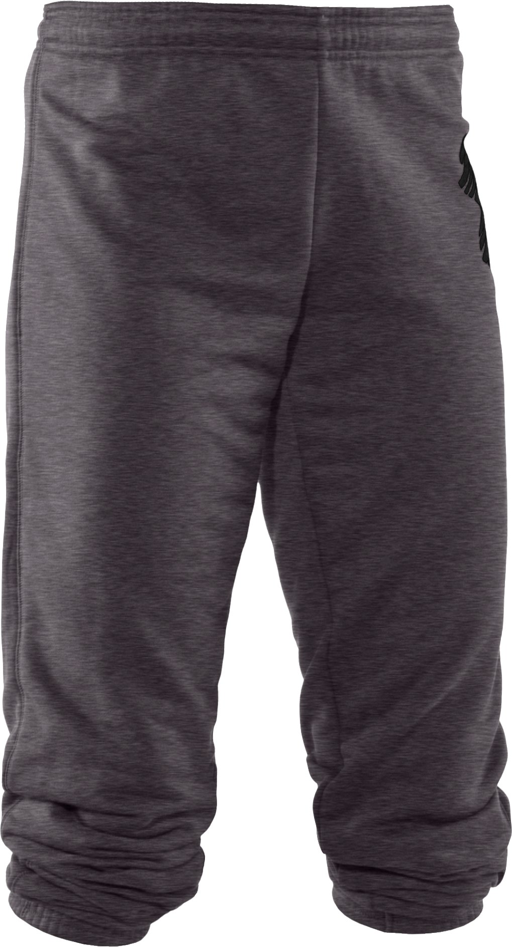 Women's UA Finesse Big Logo Varsity Pant, Carbon Heather