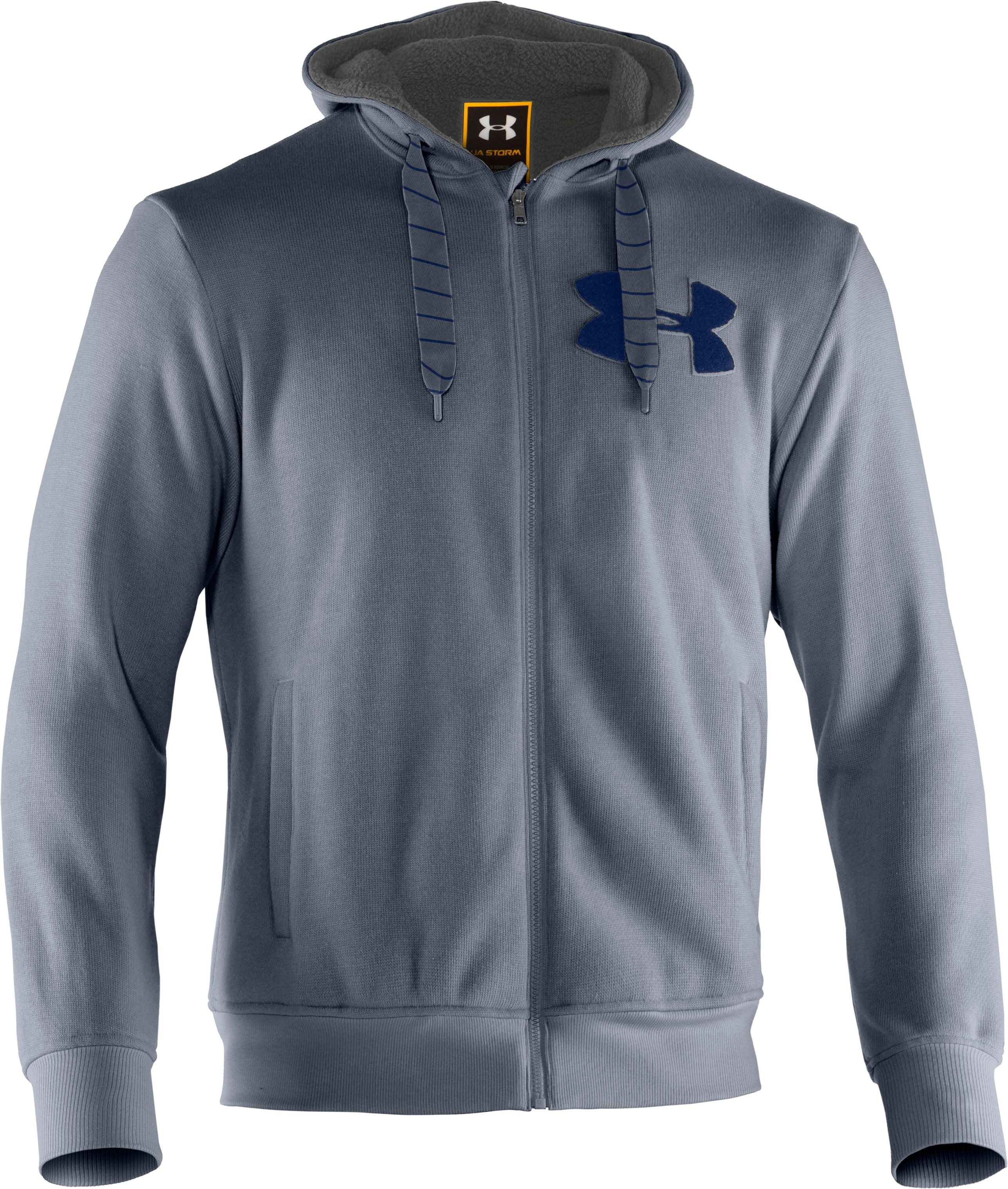 Men's UA Rally Storm Hoodie, Steel, undefined