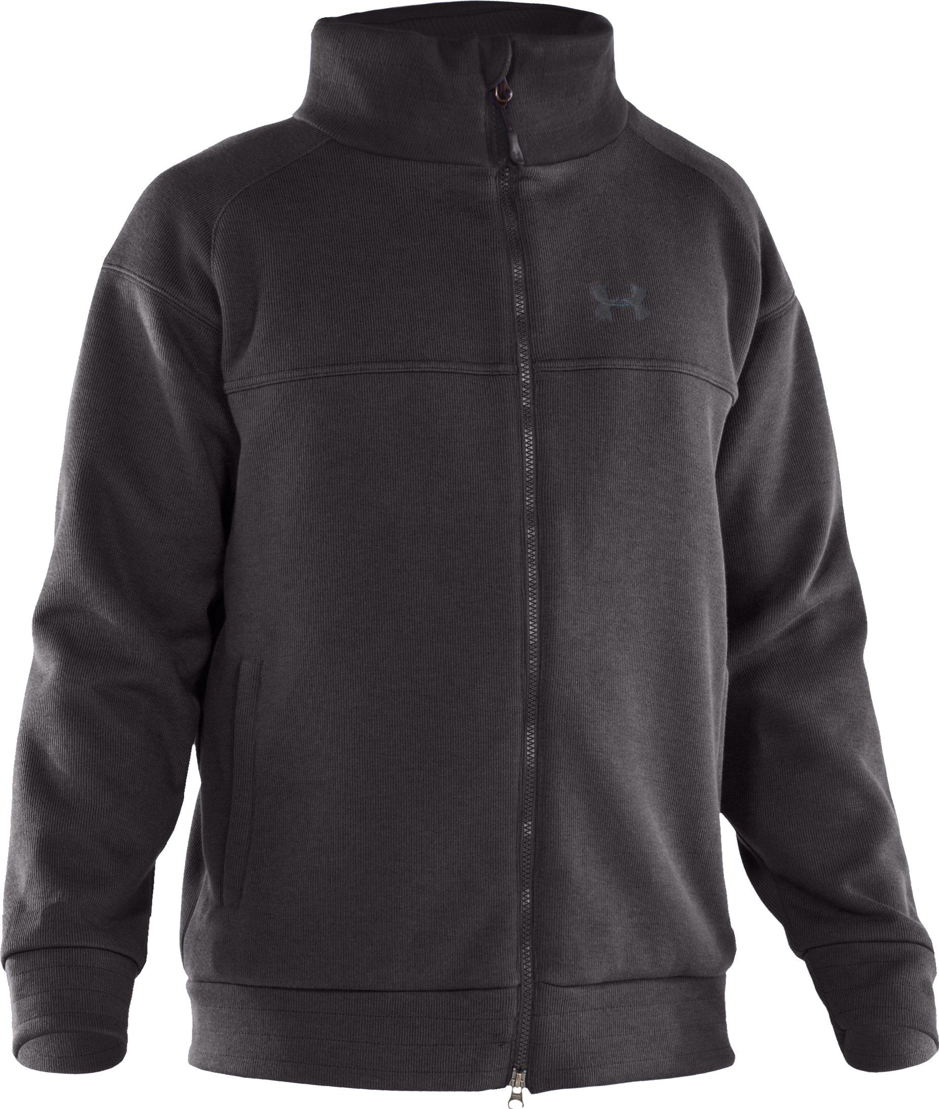 Men's UA Swagger Storm Wind Jacket, Charcoal