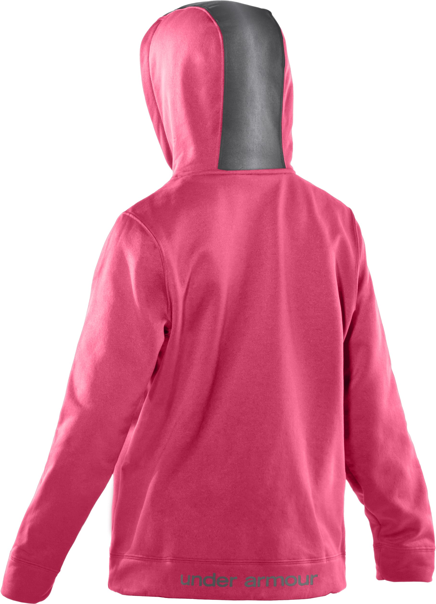 Girls' Armour® Fleece Storm Big Logo Hoodie, Ultra,