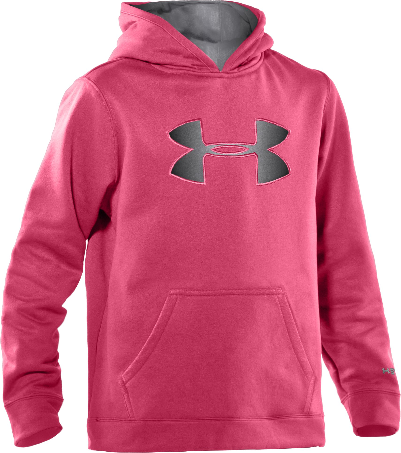 Girls' Armour® Fleece Storm Big Logo Hoodie, Ultra