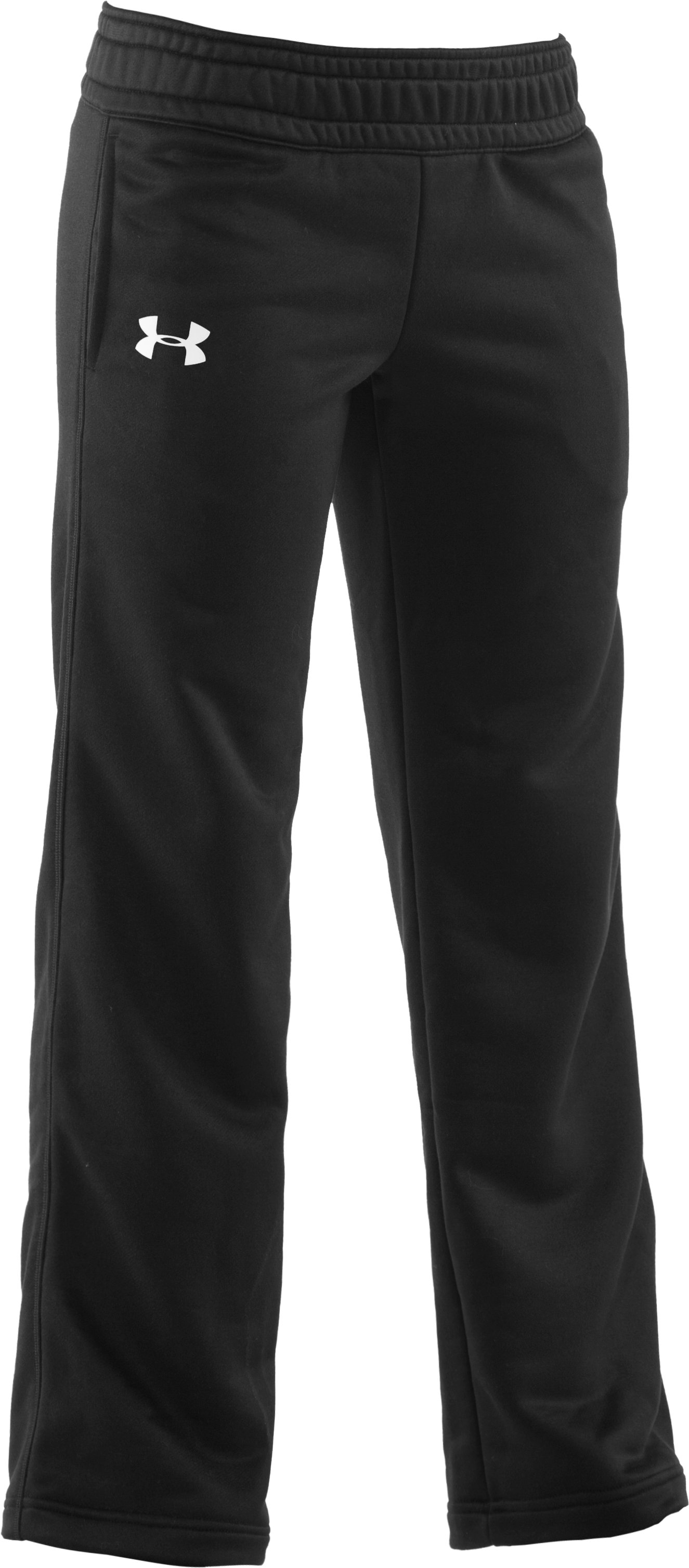 Girls' UA Spirit Pant, Black , zoomed image