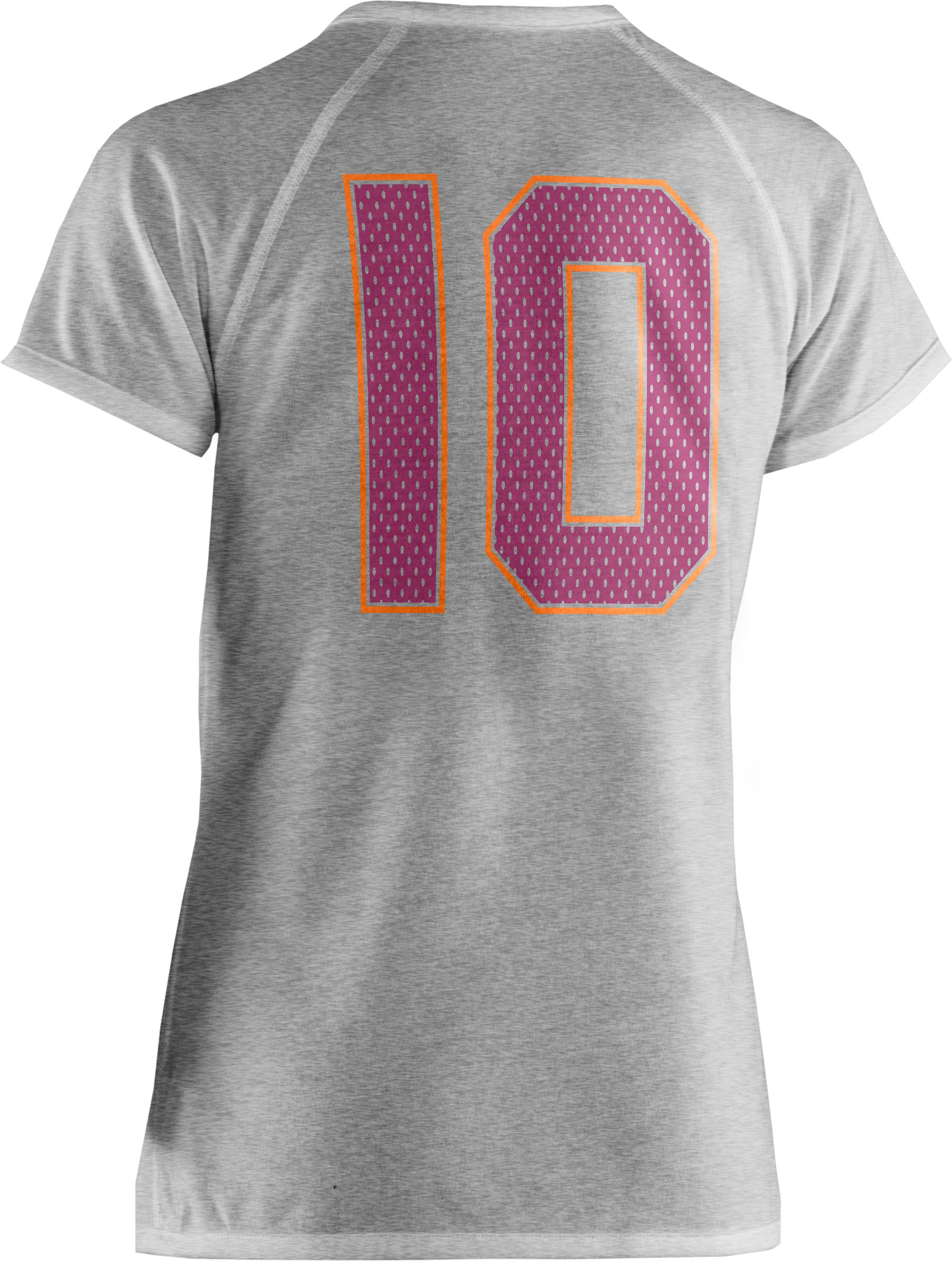 Girls' Reversible Logo Graphic T-Shirt, True Gray Heather