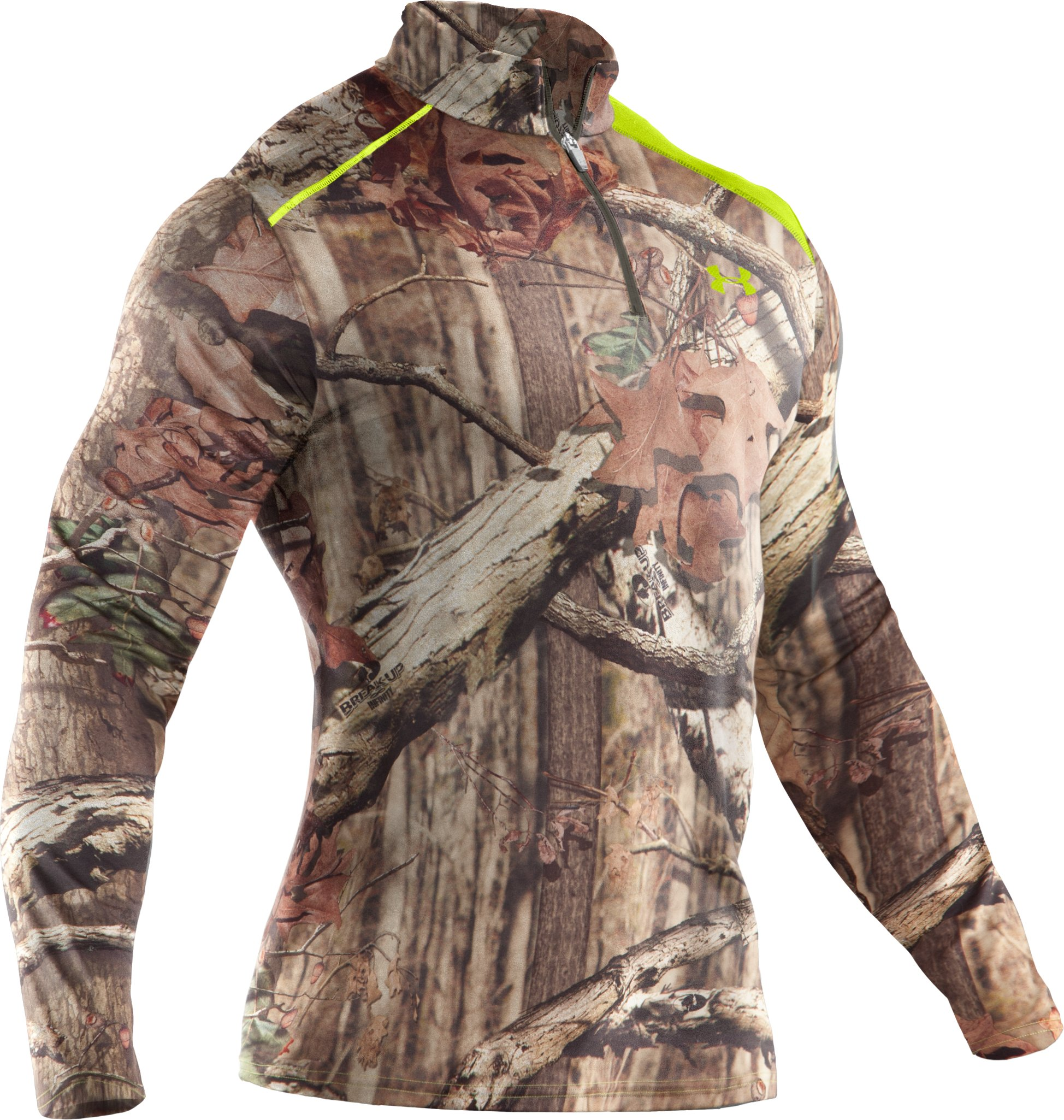 Men's ColdGear® Evo Scent Control Fitted ¼ Zip, Mossy Oak Break-Up Infinity