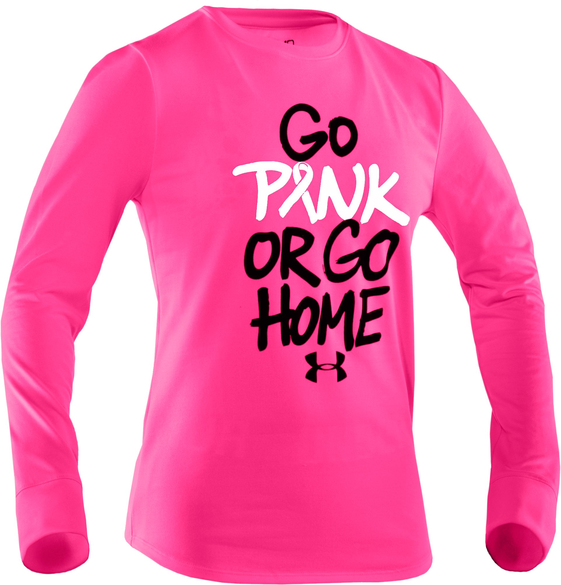 Girls' PIP® Go Pink Or Go Home Long Sleeve | Under Armour US
