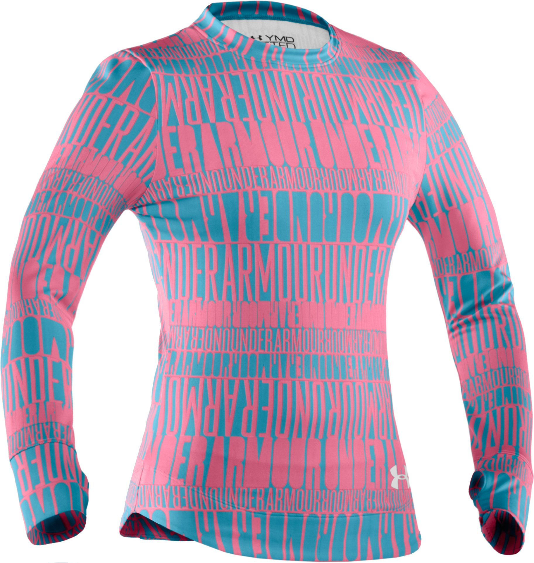 Girls' Evo ColdGear® UA Captivate Crew, Break, zoomed image