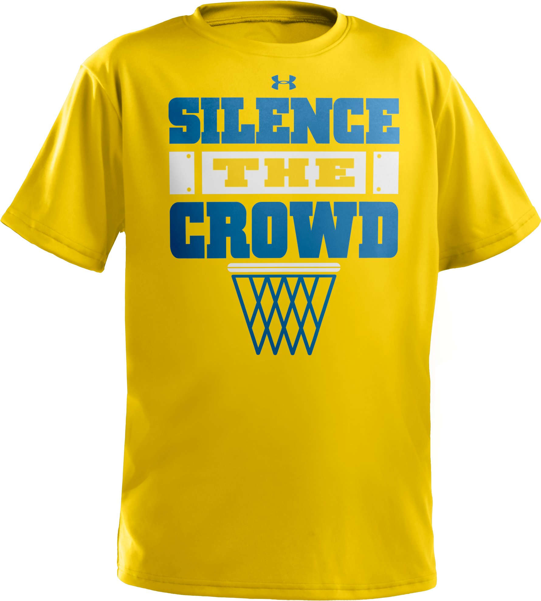Boys' UA Silence The Crowd Graphic T-Shirt, Taxi, zoomed image