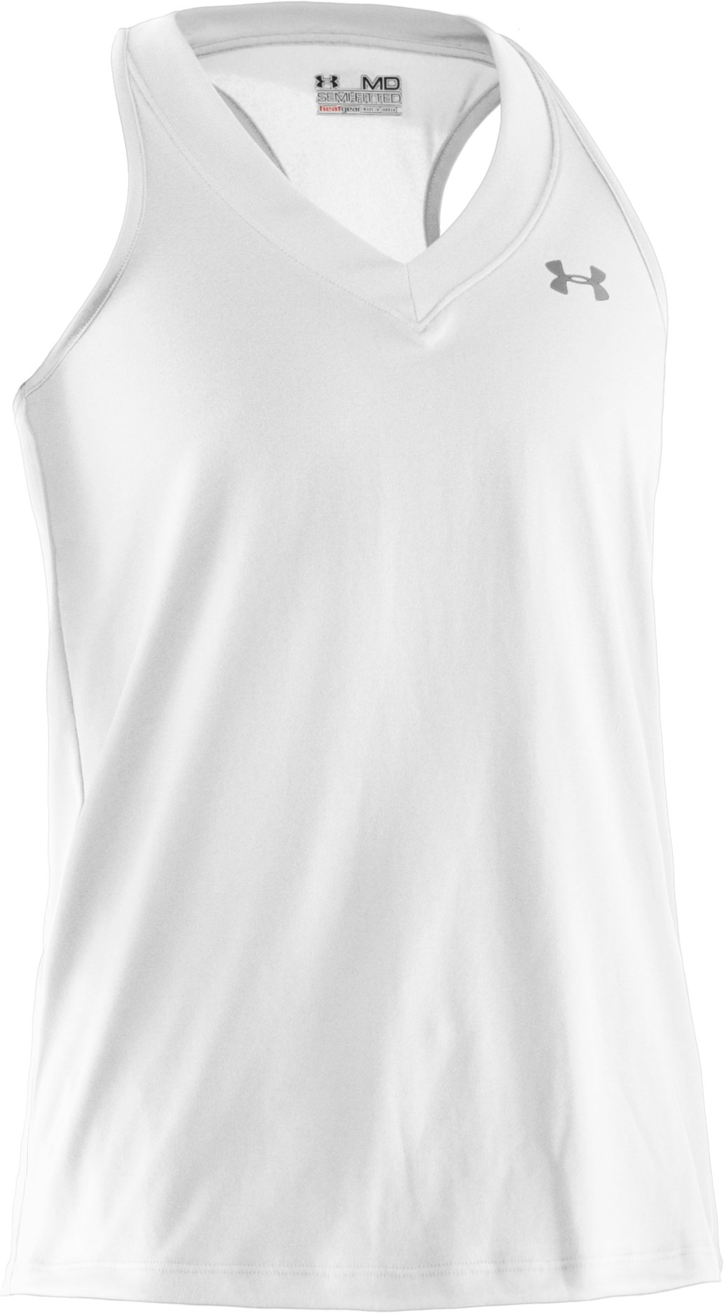 Women's UA Tech™ Sleeveless Tank, White,