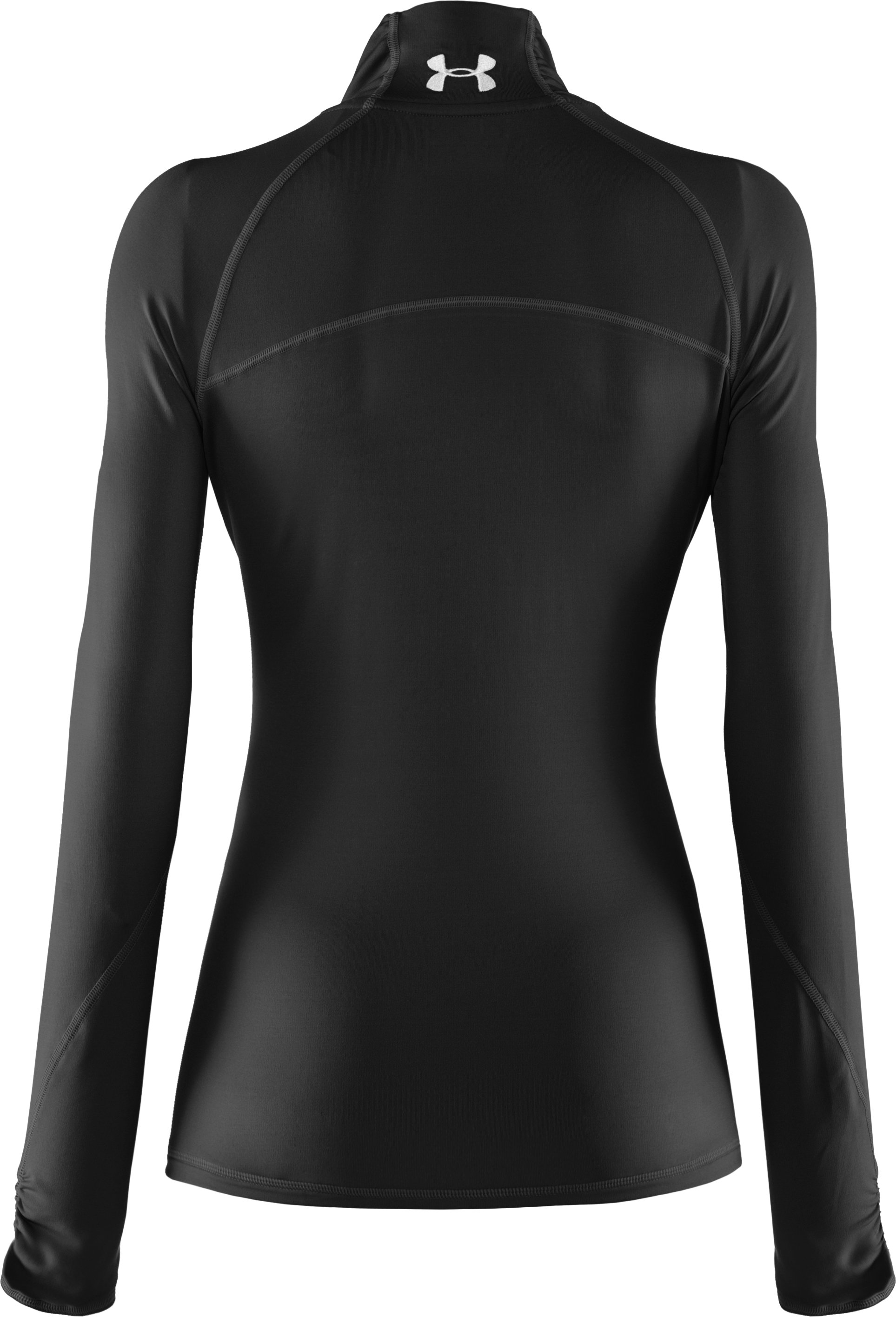 Women's Fitted ColdGear® ¼ Zip, Black