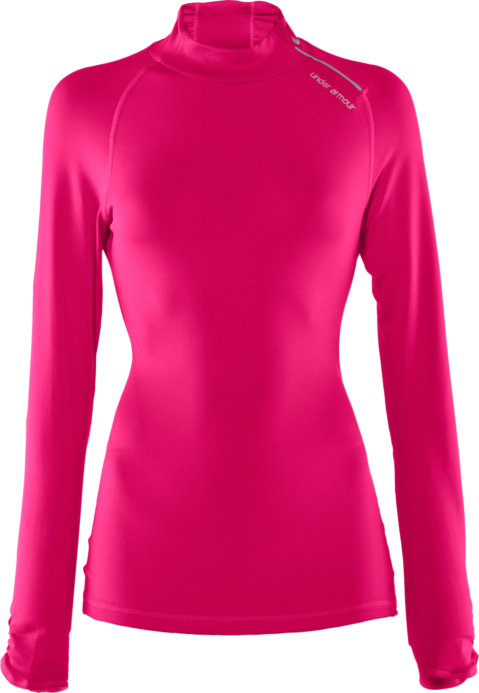 Women's Fitted ColdGear® ¼ Zip, Cerise, undefined