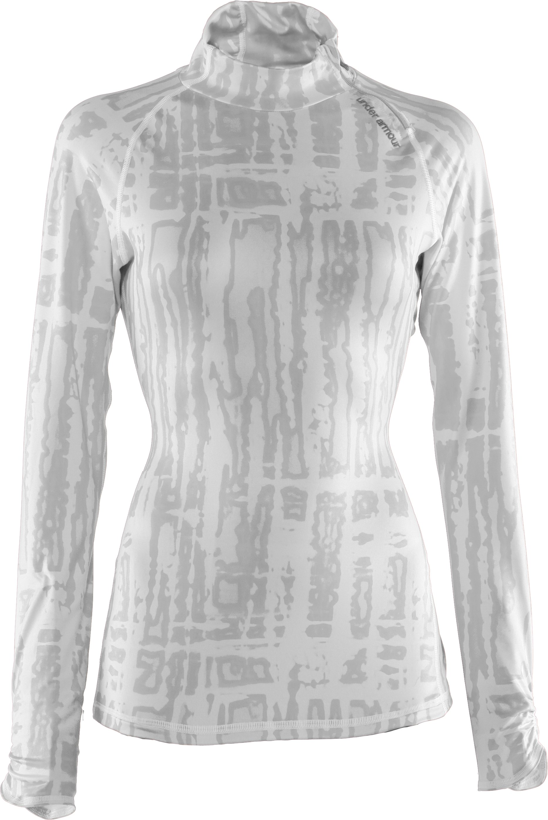 Women's Printed Fitted ColdGear® ¼ Zip, White, undefined
