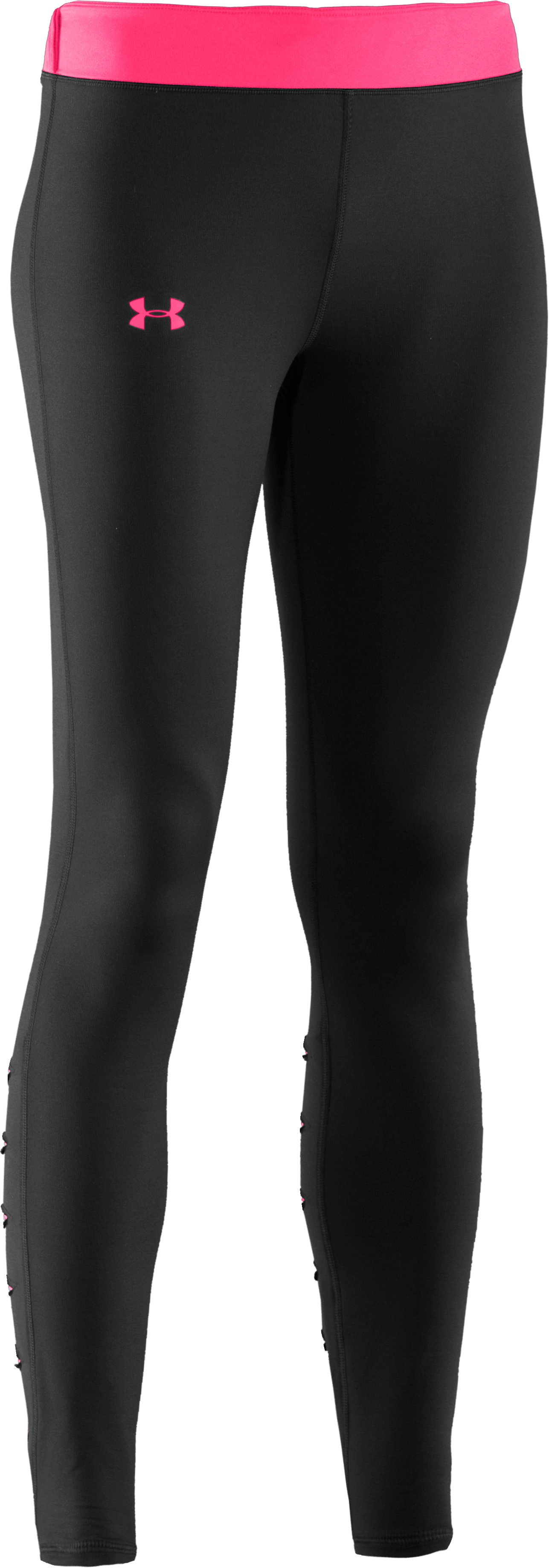 Women's UA ColdGear® Slash Tights, Black ,
