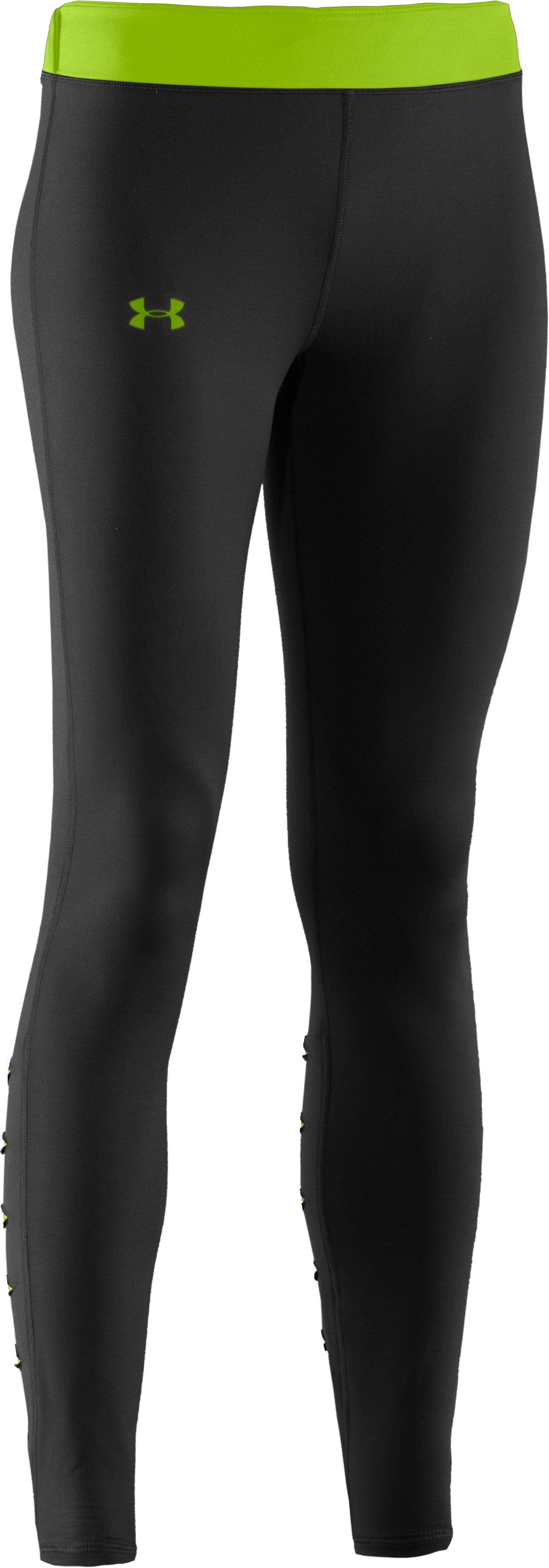 Women's UA ColdGear® Slash Tights, Black , undefined