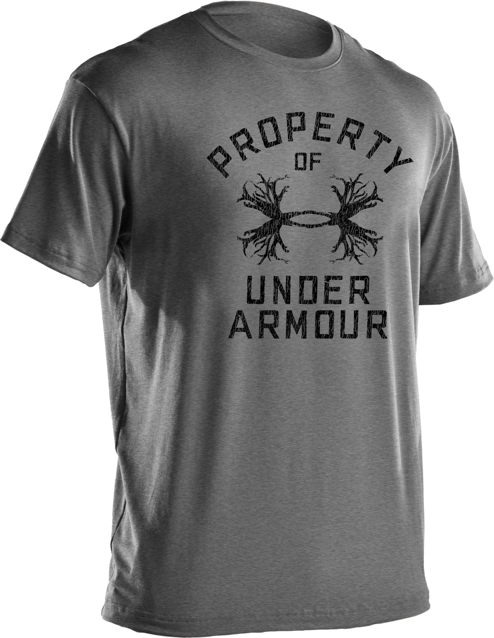 Men's UA Antler Property Graphic T-Shirt, True Gray Heather