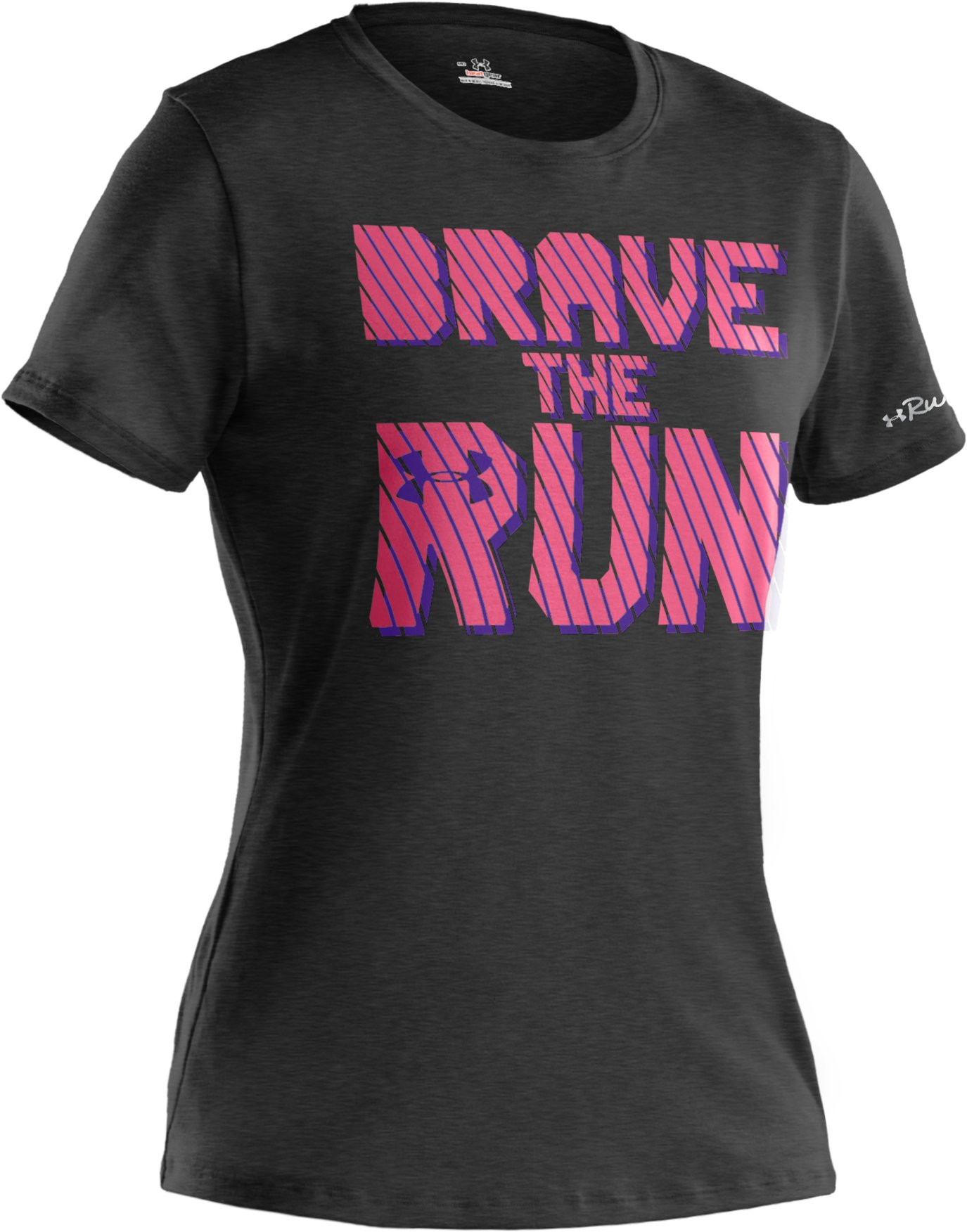 Women's UA Brave The Run™ Short Sleeve, Asphalt Heather, undefined